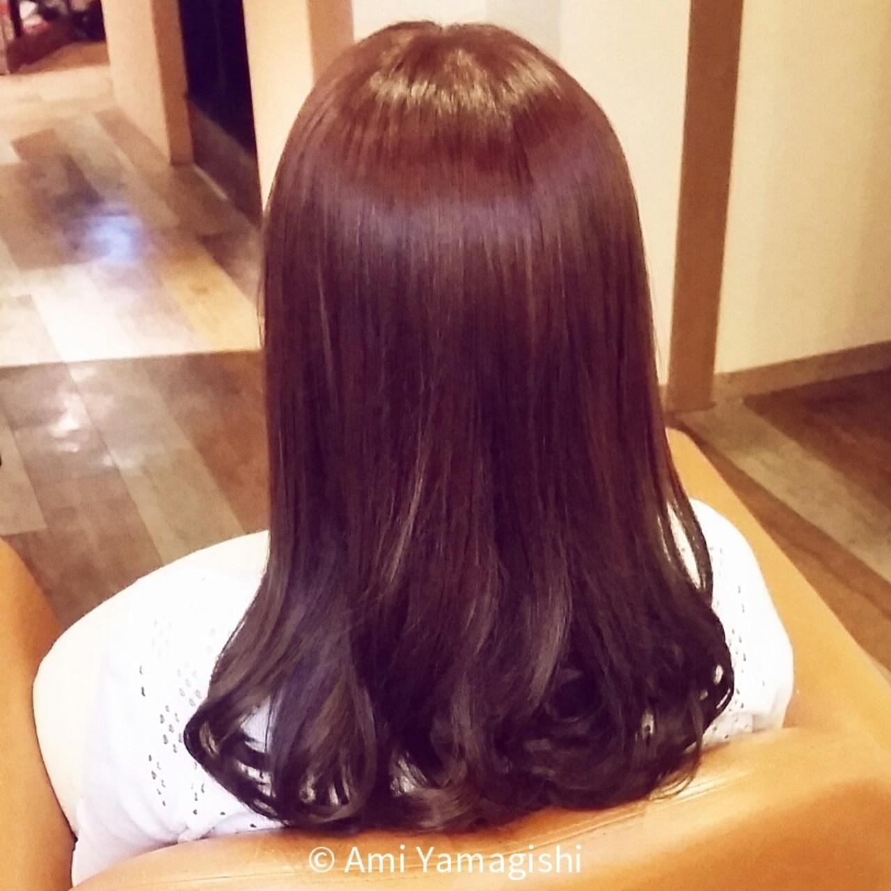 ガーリー 大人かわいい フェミニン セミロング ヘアスタイルや髪型の写真・画像