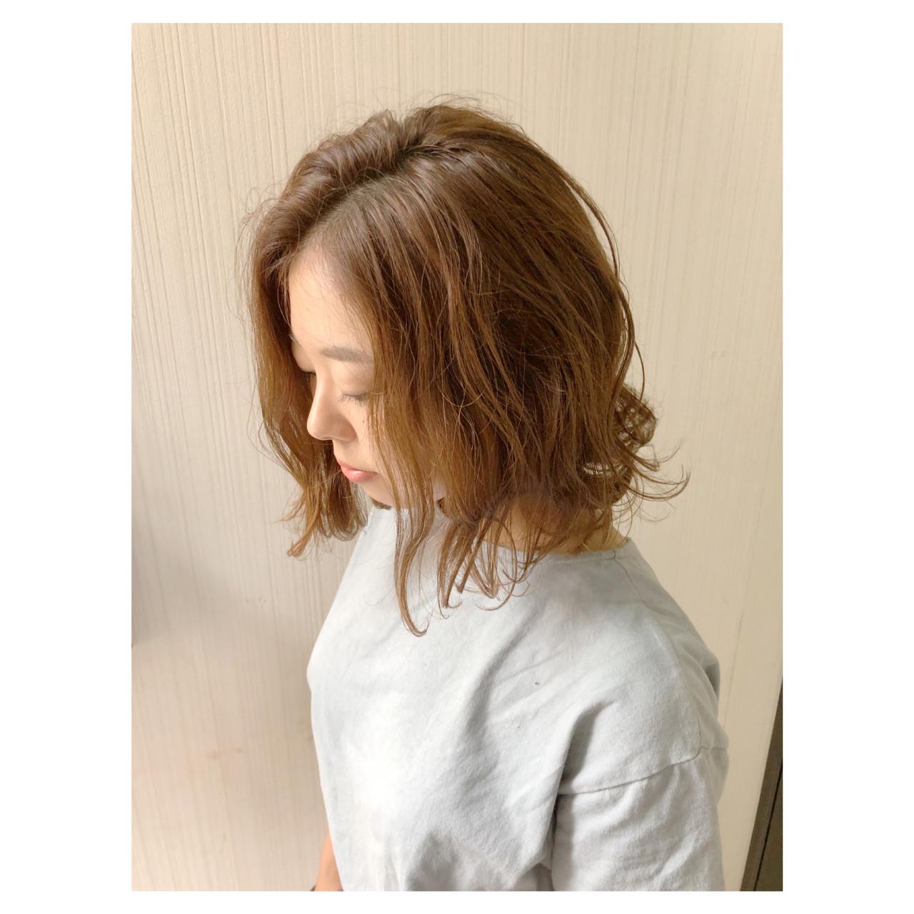ガーリー ボブ デート 簡単ヘアアレンジ ヘアスタイルや髪型の写真・画像