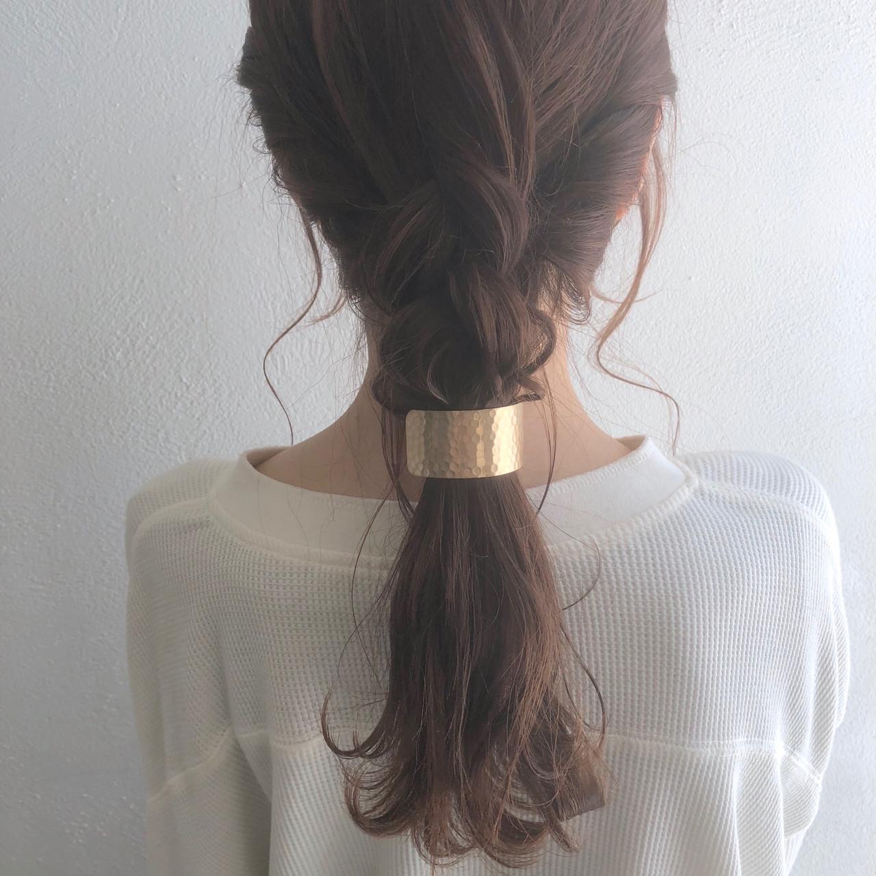 ロング 編み込み ヘアアレンジ アンニュイほつれヘア ヘアスタイルや髪型の写真・画像