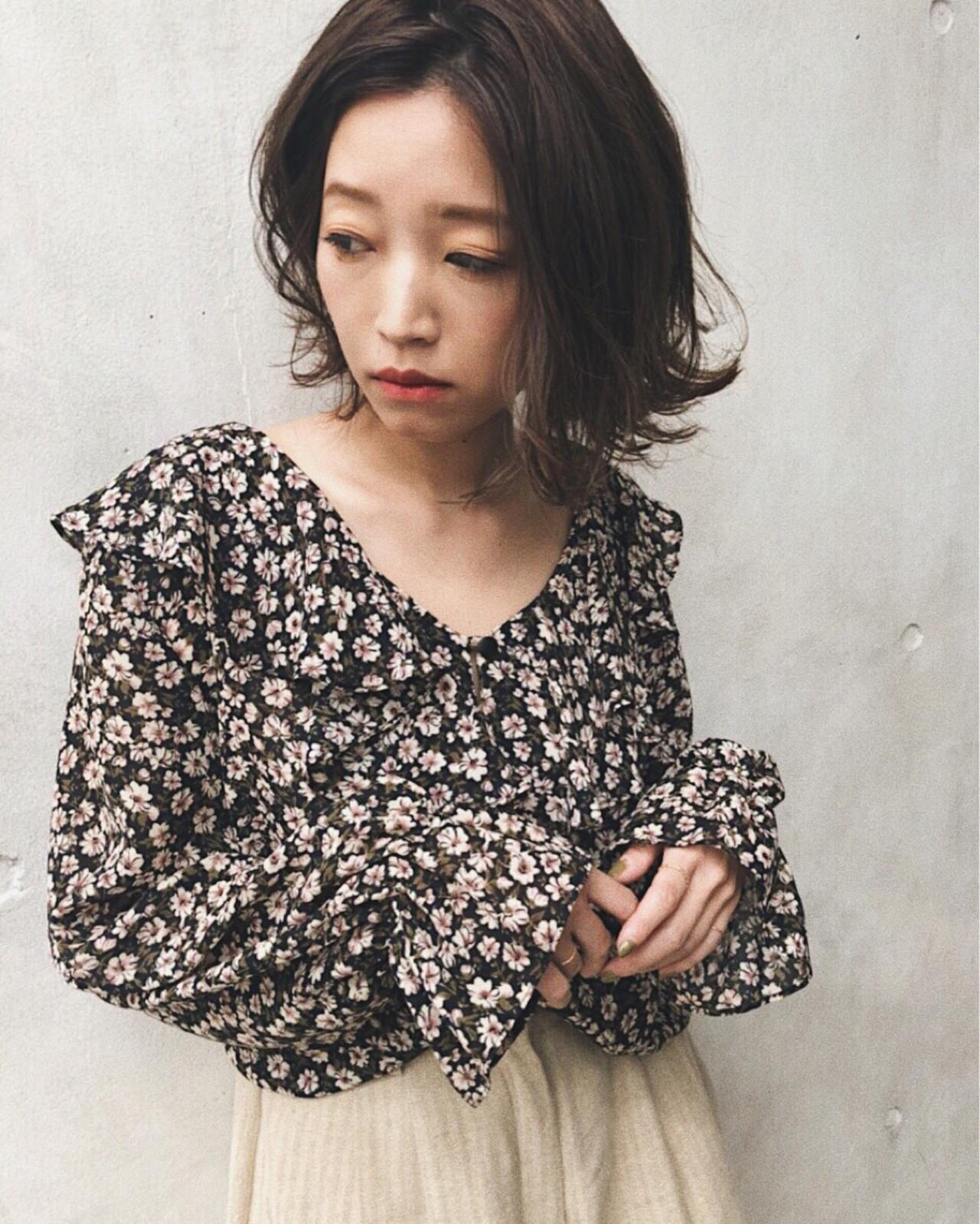 ナチュラル 大人女子 ボブ 大人かわいい ヘアスタイルや髪型の写真・画像   kana /