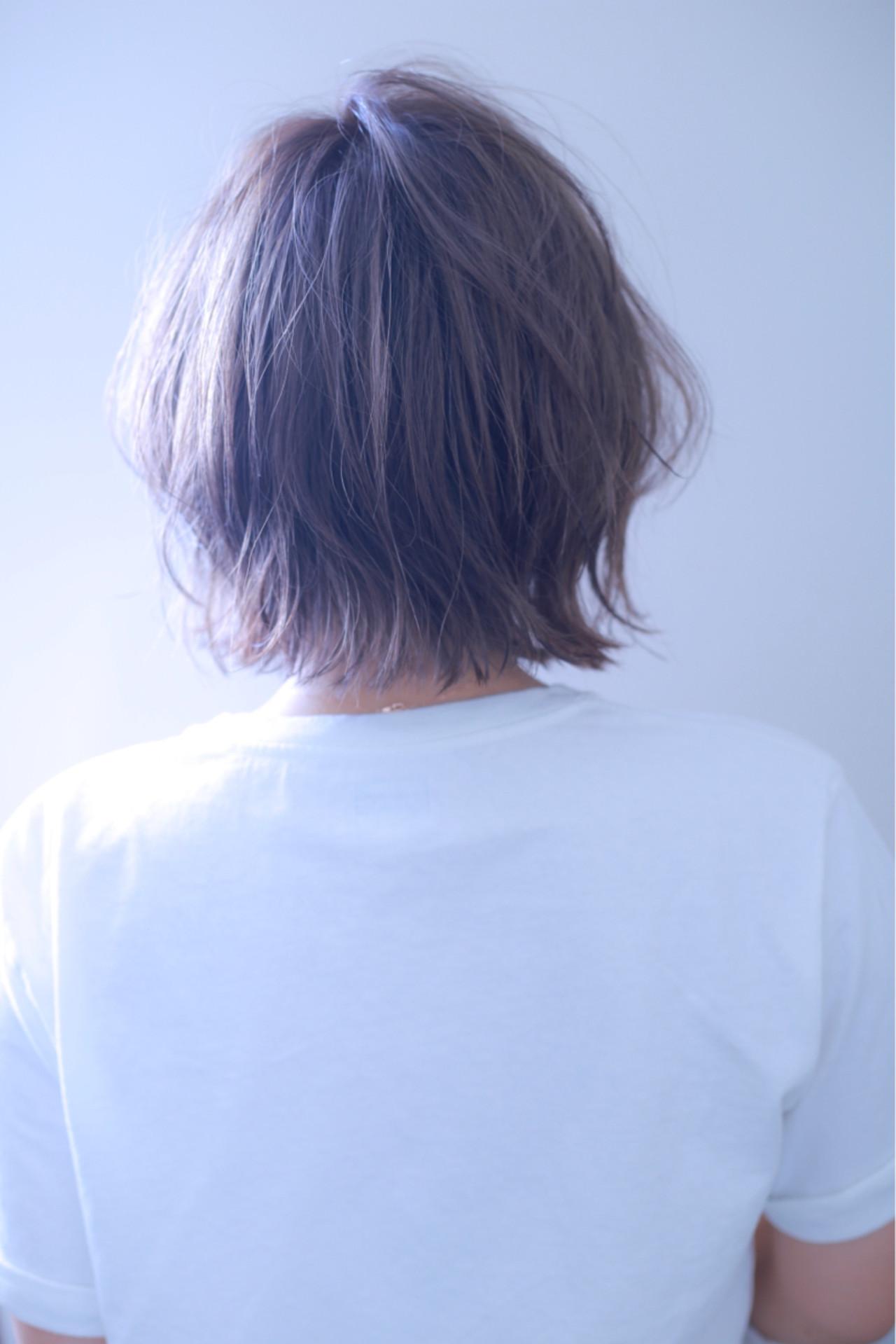 外ハネ ボブ 外国人風カラー ストリート ヘアスタイルや髪型の写真・画像 | 伊藤 裕貴 / LOAOL上小田井店