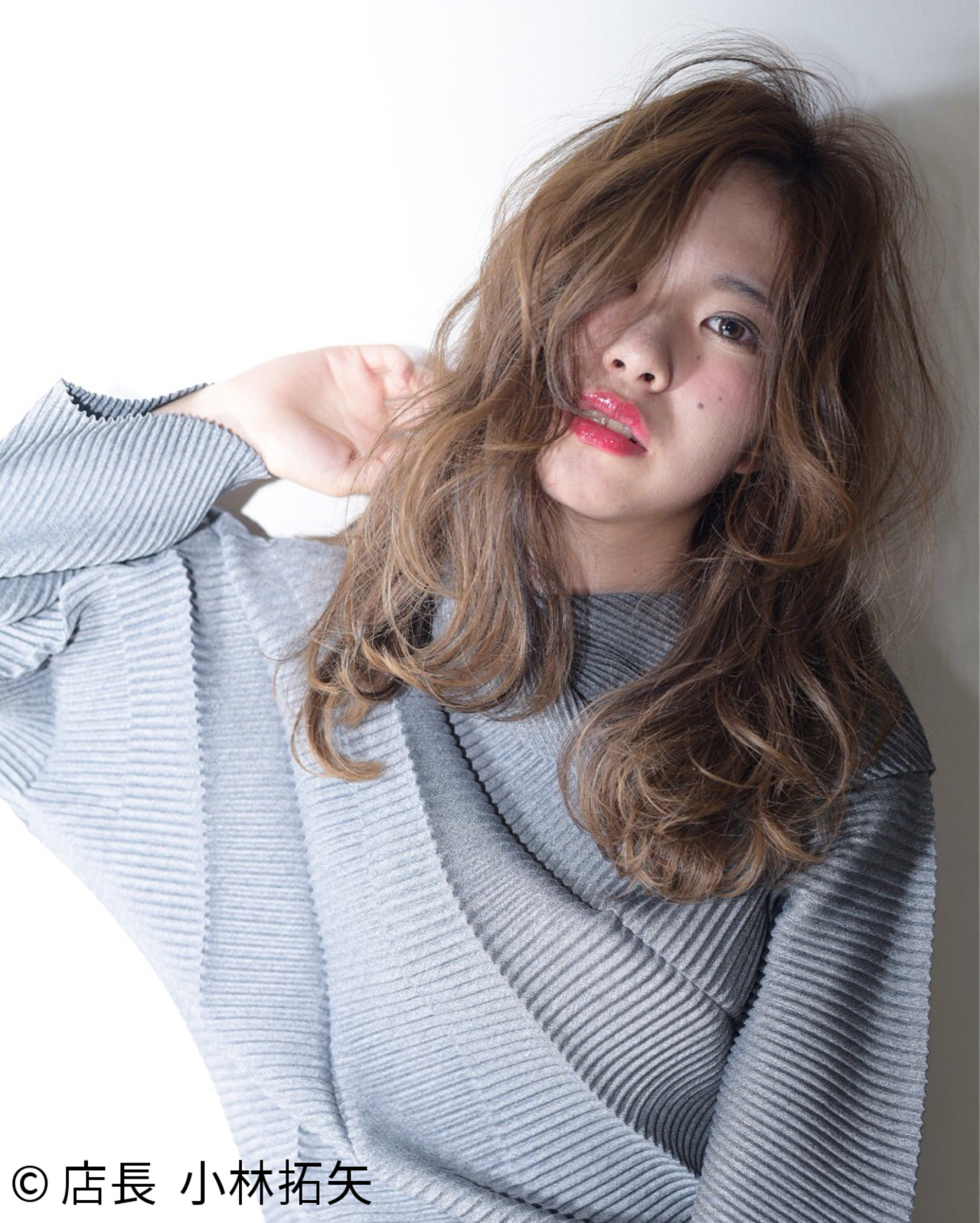 大人女子 グラデーションカラー 小顔 外国人風 ヘアスタイルや髪型の写真・画像
