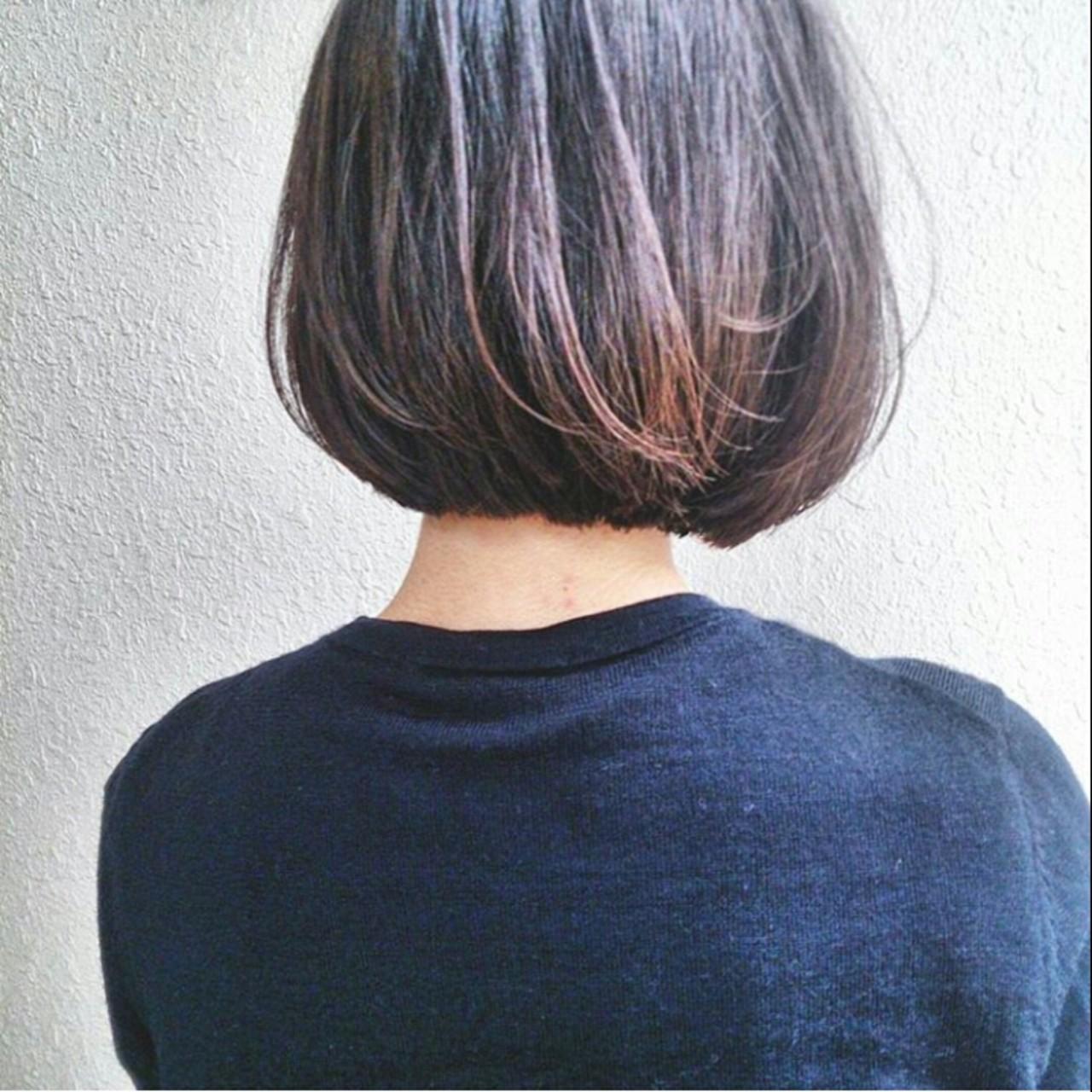 黒髪 ストリート ボブ 暗髪 ヘアスタイルや髪型の写真・画像 | 野崎 秀幸 / HEAVENS SHIBUYA