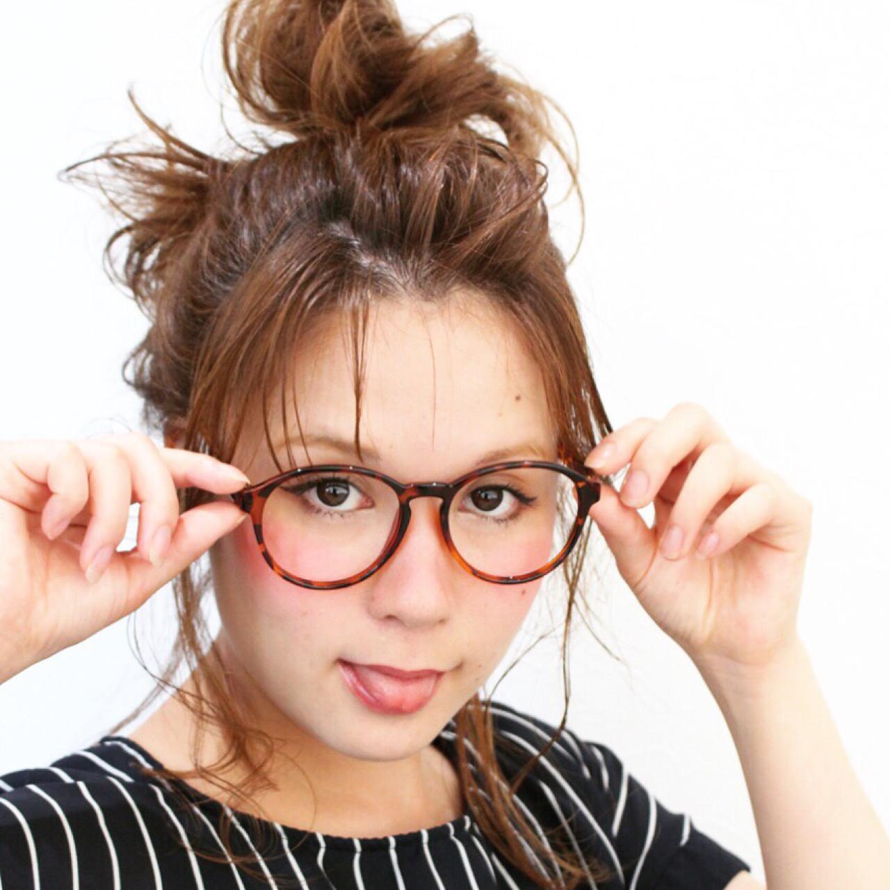 外国人風 アッシュ セミロング ヘアアレンジ ヘアスタイルや髪型の写真・画像