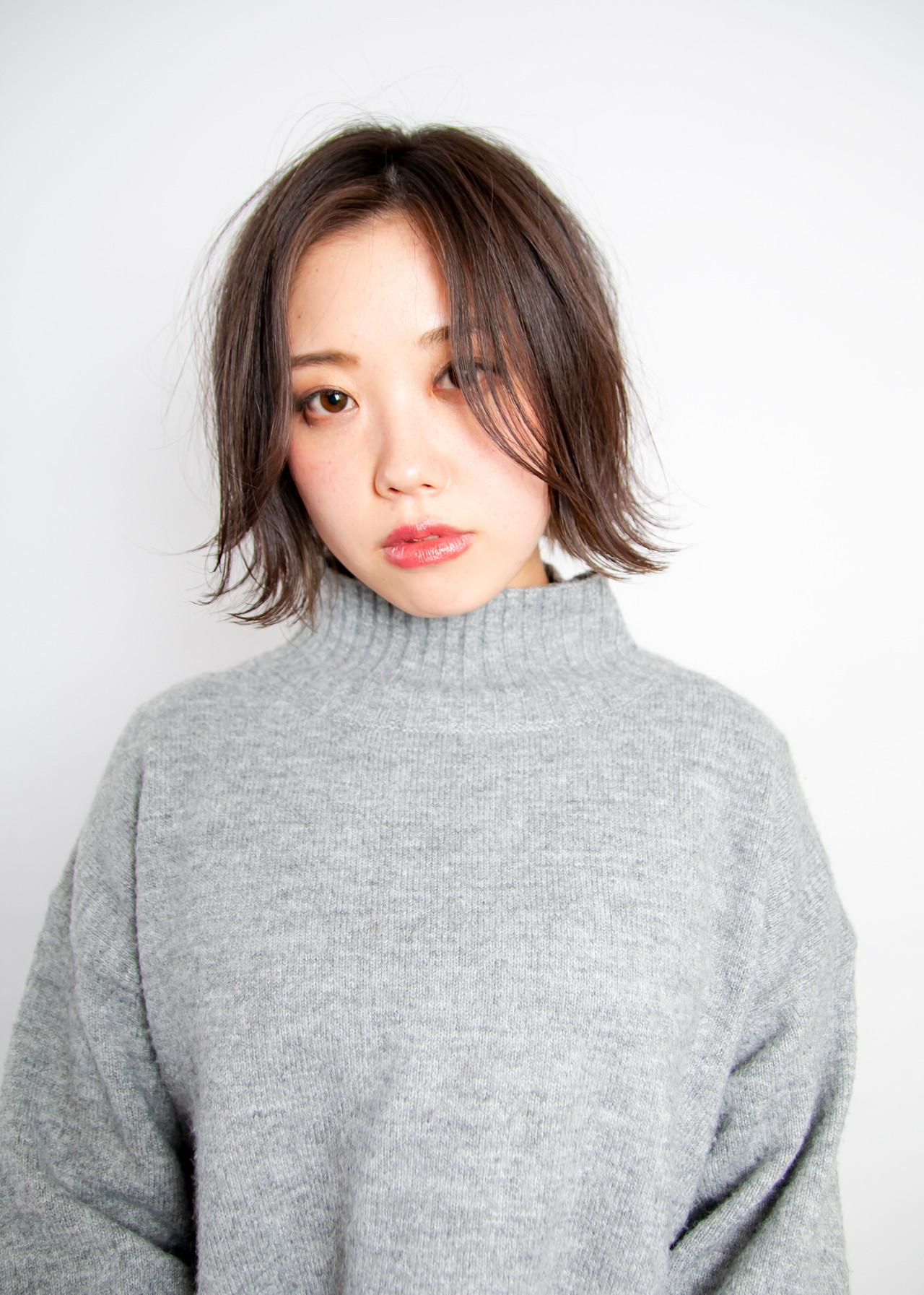 ショートボブ ボブ ナチュラル インナーカラー ヘアスタイルや髪型の写真・画像 | Well 中山 亮二 / Well Hair Make Studio