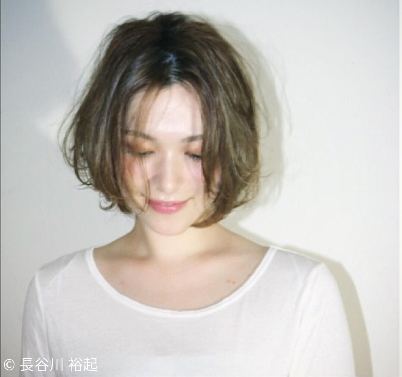 外国人風 透明感 ボブ 大人かわいい ヘアスタイルや髪型の写真・画像