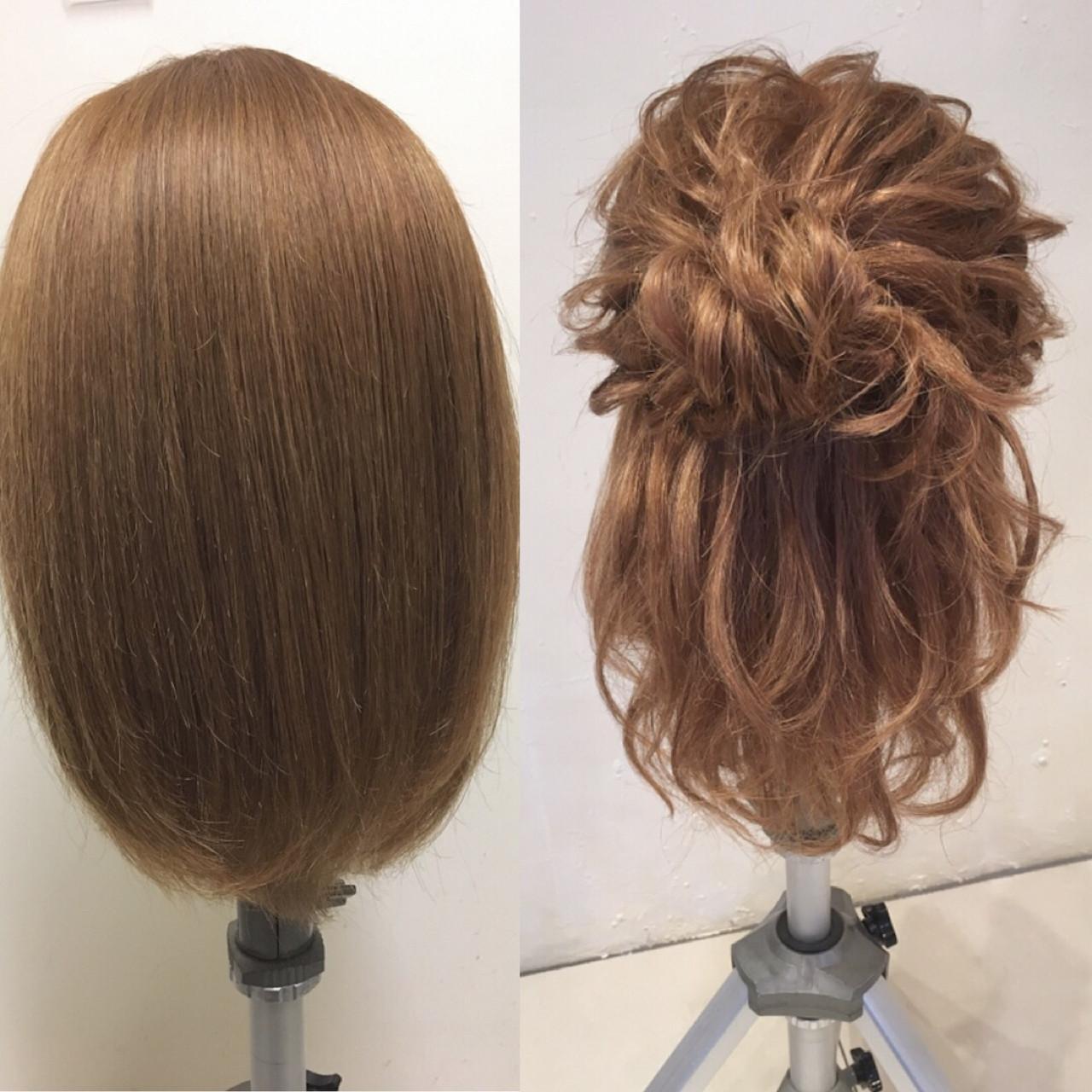 ミディアム 大人かわいい パーティ ナチュラル ヘアスタイルや髪型の写真・画像   平川 元気 / MAPUNA