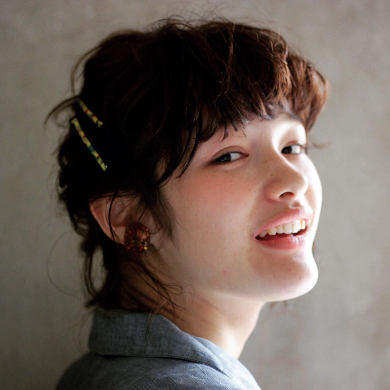 簡単ヘアアレンジ ヘアアレンジ ボブ 大人かわいい ヘアスタイルや髪型の写真・画像