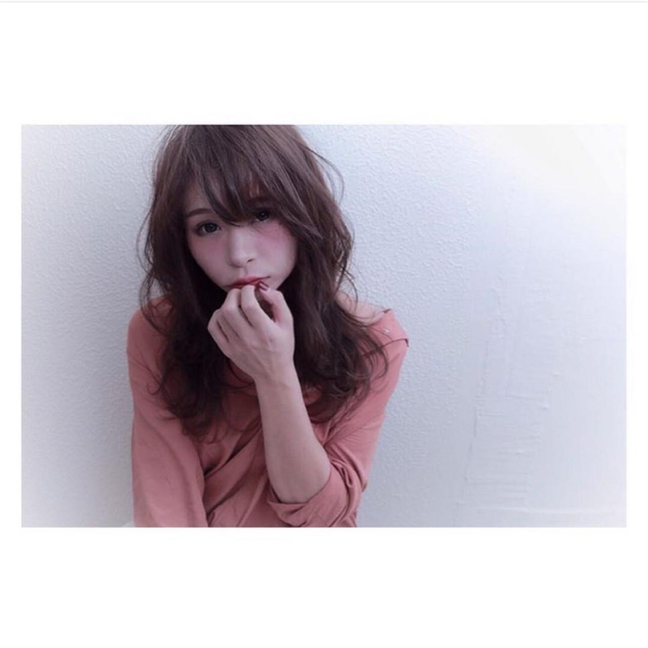 イルミナカラー おフェロ 色気 セミロング ヘアスタイルや髪型の写真・画像