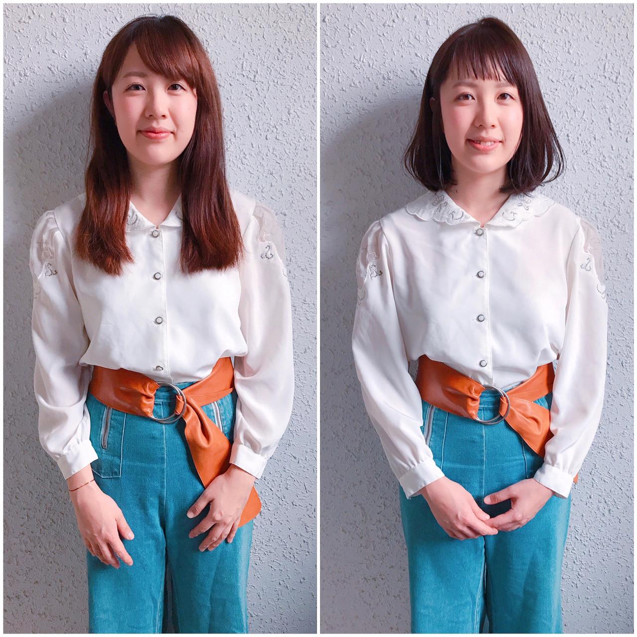 ボブ デート 女子会 ナチュラル ヘアスタイルや髪型の写真・画像 | YUJI / LIICHI / LIICHI (リイチ)