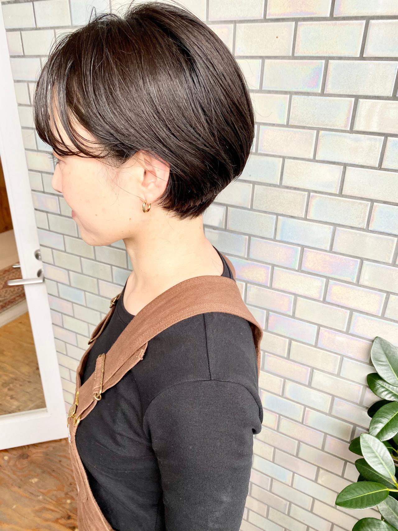 デート オフィス 大人かわいい ショートボブ ヘアスタイルや髪型の写真・画像