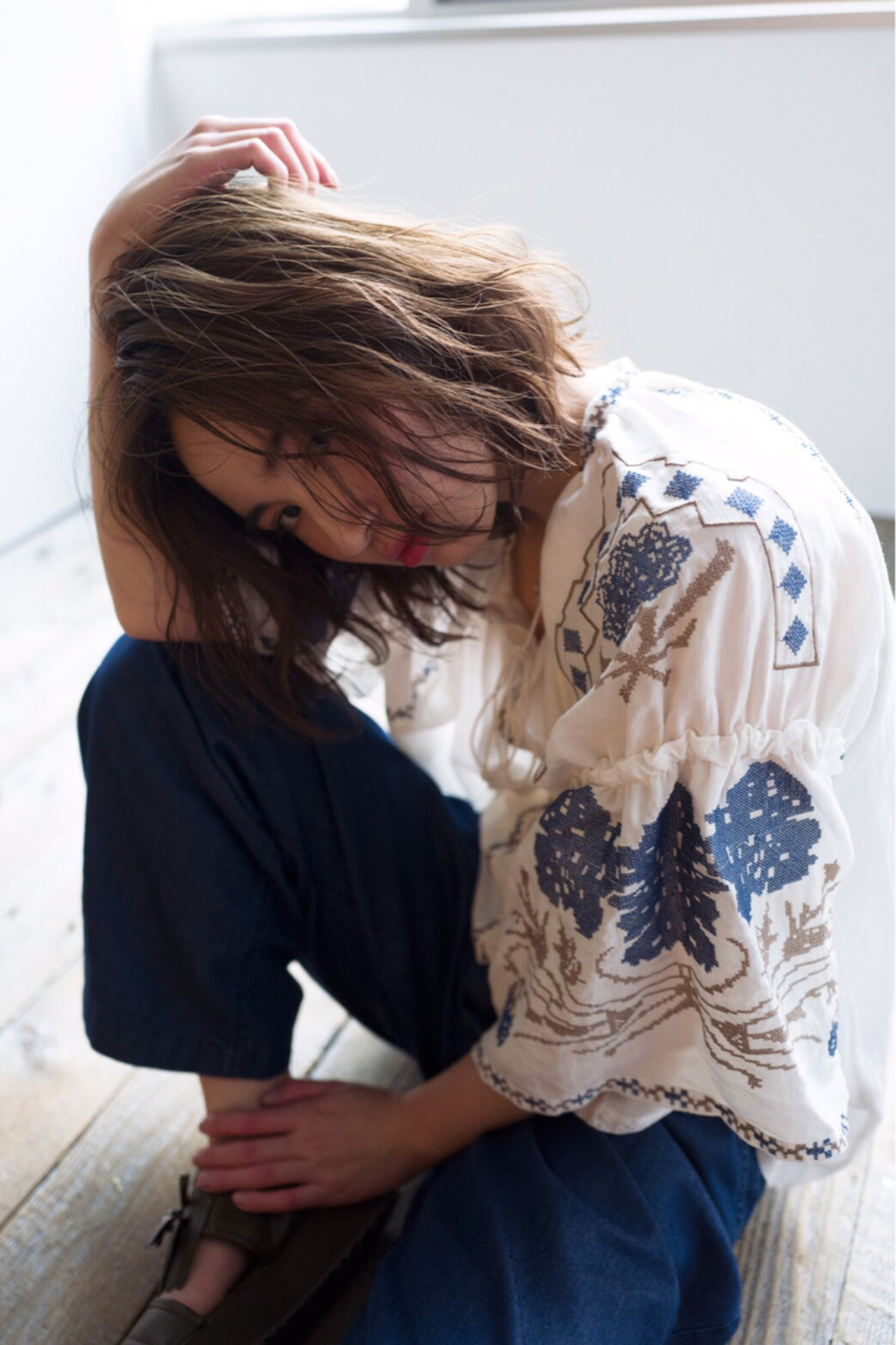 パーマ ボブ 外国人風 大人かわいい ヘアスタイルや髪型の写真・画像