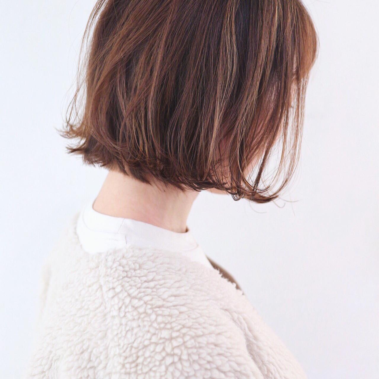 外ハネボブ デート フェミニン 外ハネ ヘアスタイルや髪型の写真・画像