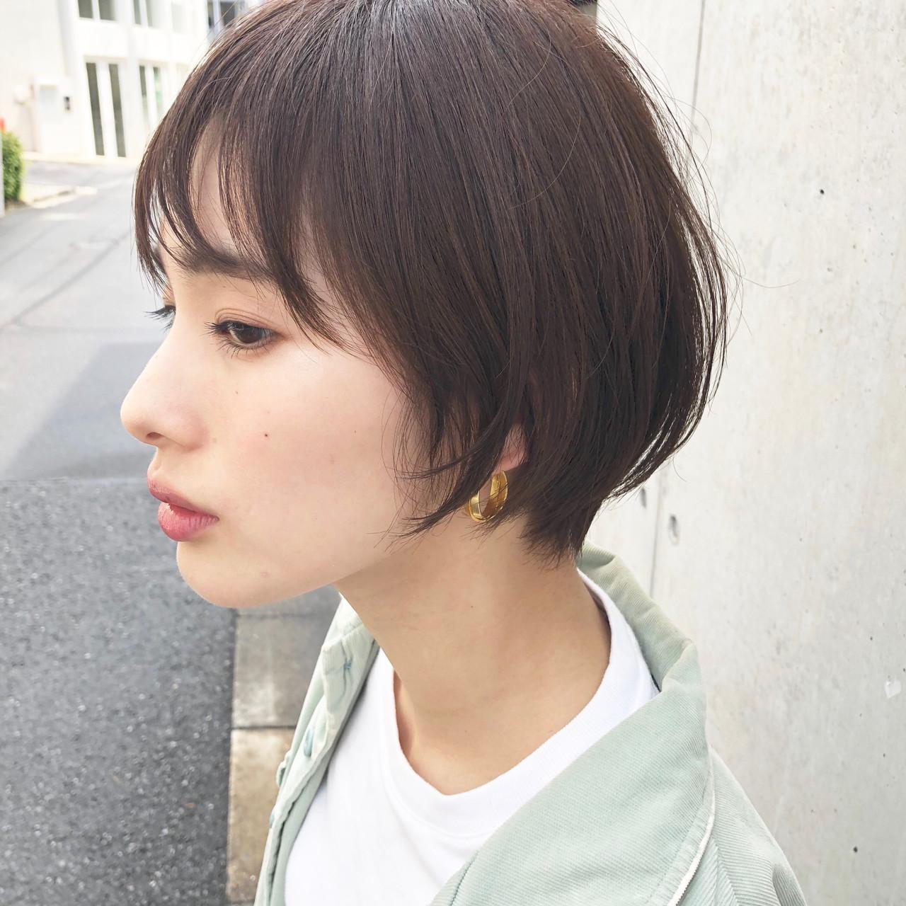 ショートヘア ナチュラル ショート 小顔ショート ヘアスタイルや髪型の写真・画像