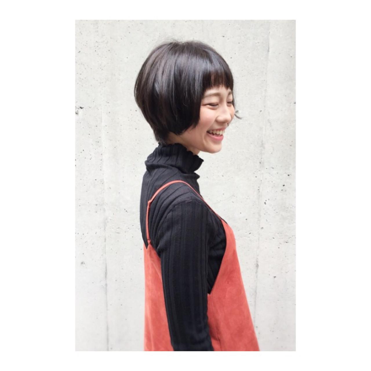 大人かわいい ショート ボブ ショートボブ ヘアスタイルや髪型の写真・画像 | 【ショートボブ似合わせ】スペシャリスト佐野元気 / morio from london ikebukuro モリオ フロム ロンドン 池袋店