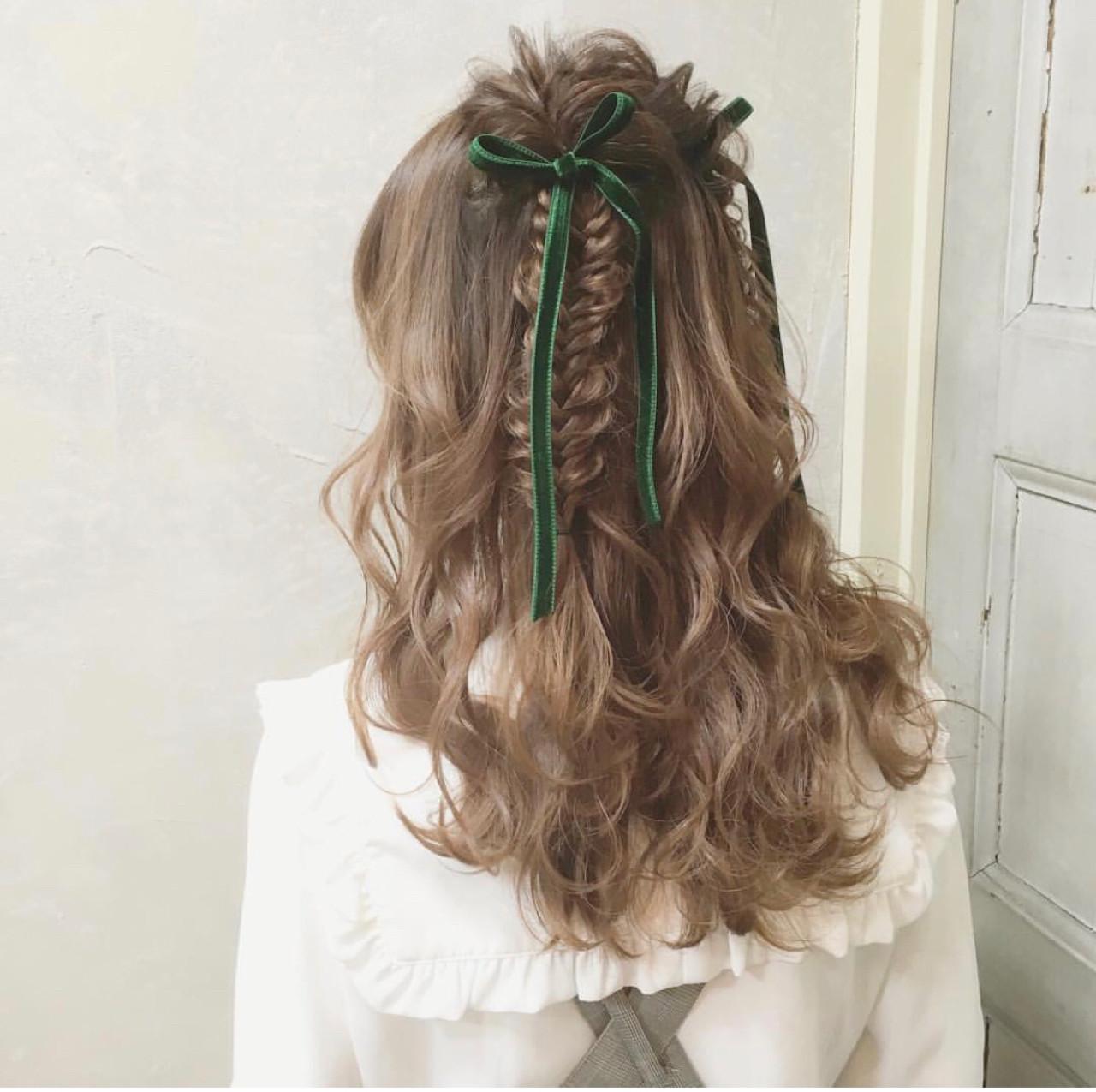 結婚式 謝恩会 デート ガーリー ヘアスタイルや髪型の写真・画像