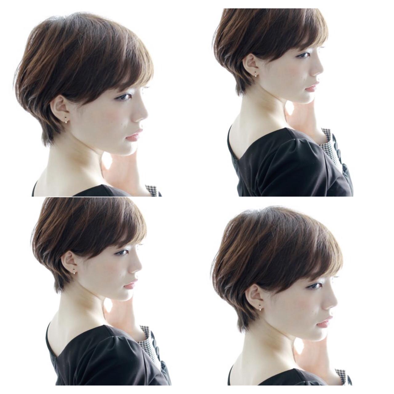 小顔ショート ショート ナチュラル ショートボブ ヘアスタイルや髪型の写真・画像
