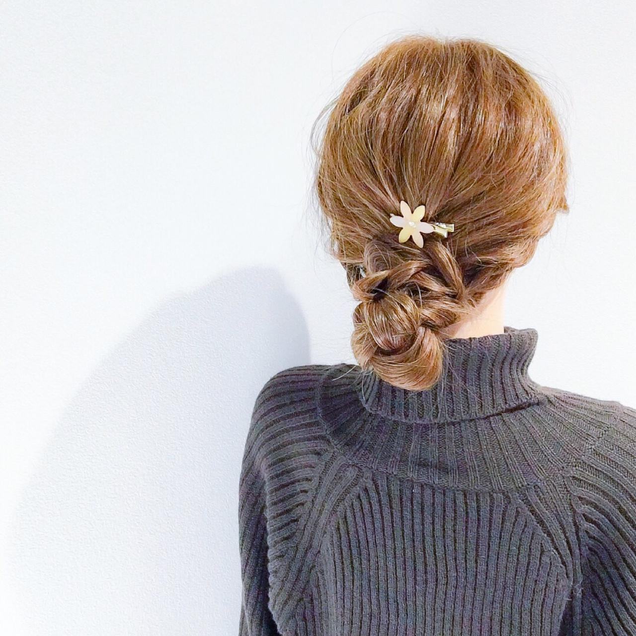 デート フェミニン セミロング アウトドア ヘアスタイルや髪型の写真・画像