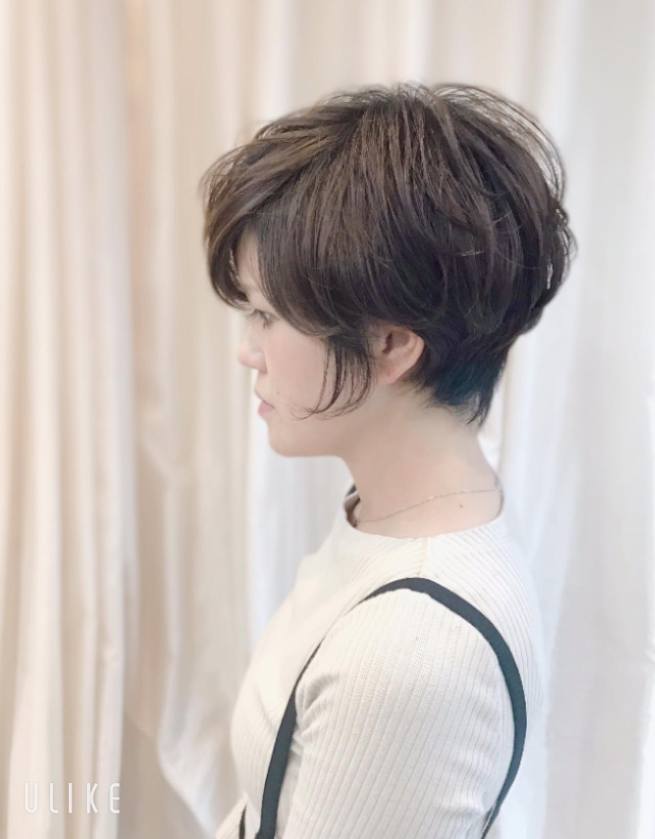 ナチュラル ハンサムショート ベリーショート 大人ショート ヘアスタイルや髪型の写真・画像 | 内田 一也 / hair/nail space a:le