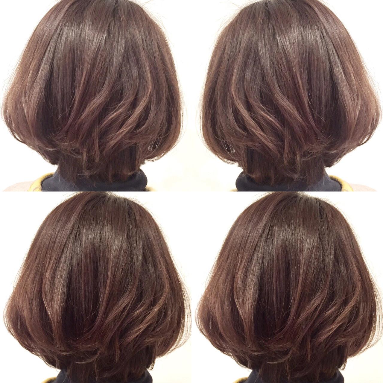 似合わせ 色気 ボブ ショート ヘアスタイルや髪型の写真・画像