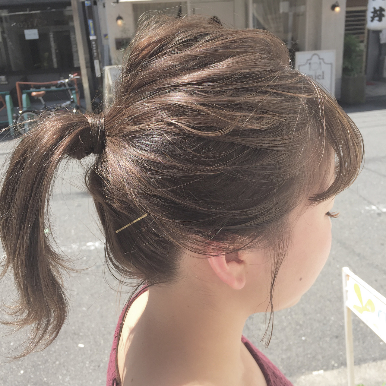 簡単ヘアアレンジ 透明感 夏 色気 ヘアスタイルや髪型の写真・画像