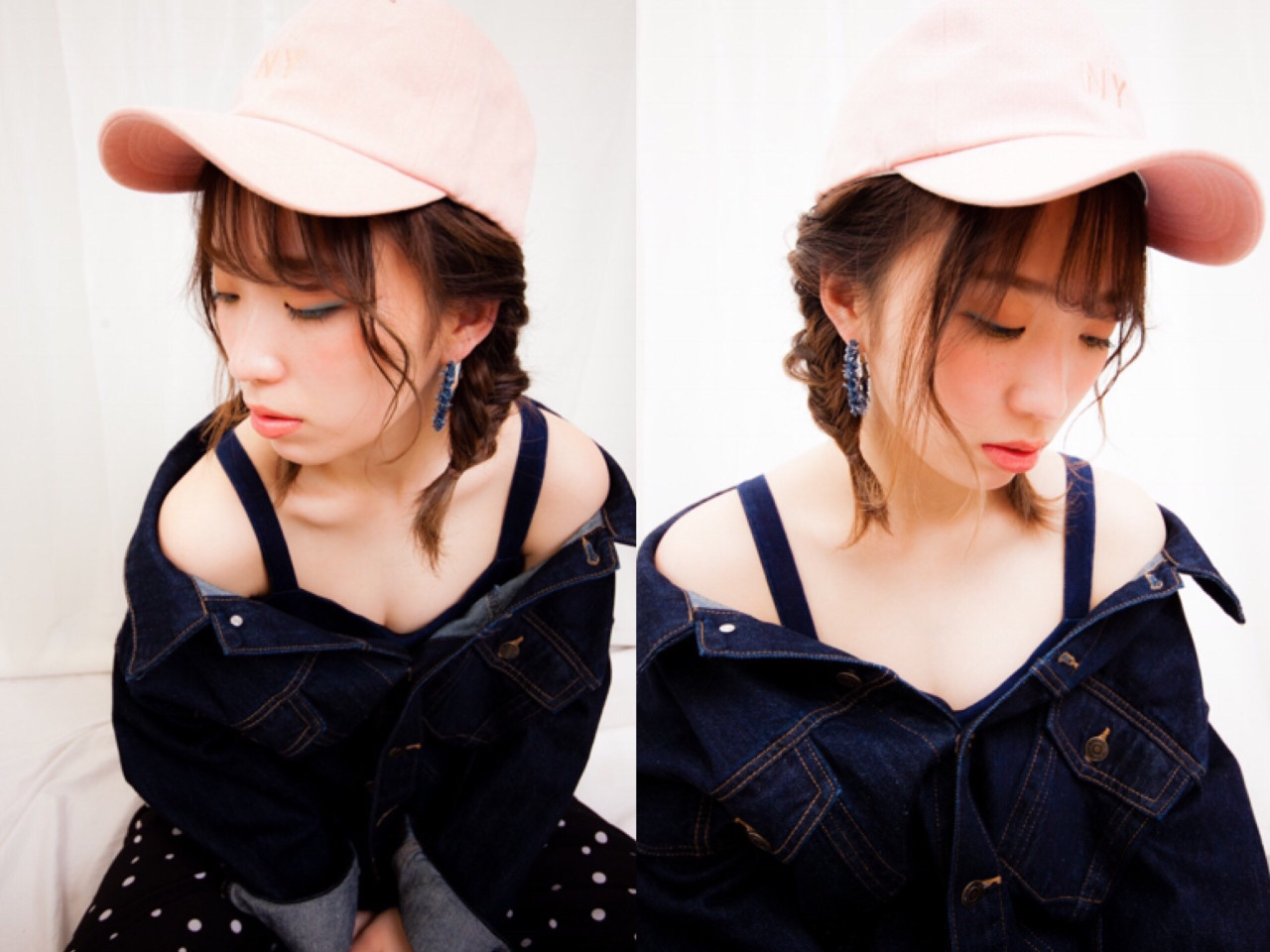 ミルクティー ヘアアレンジ フィッシュボーン フェミニン ヘアスタイルや髪型の写真・画像
