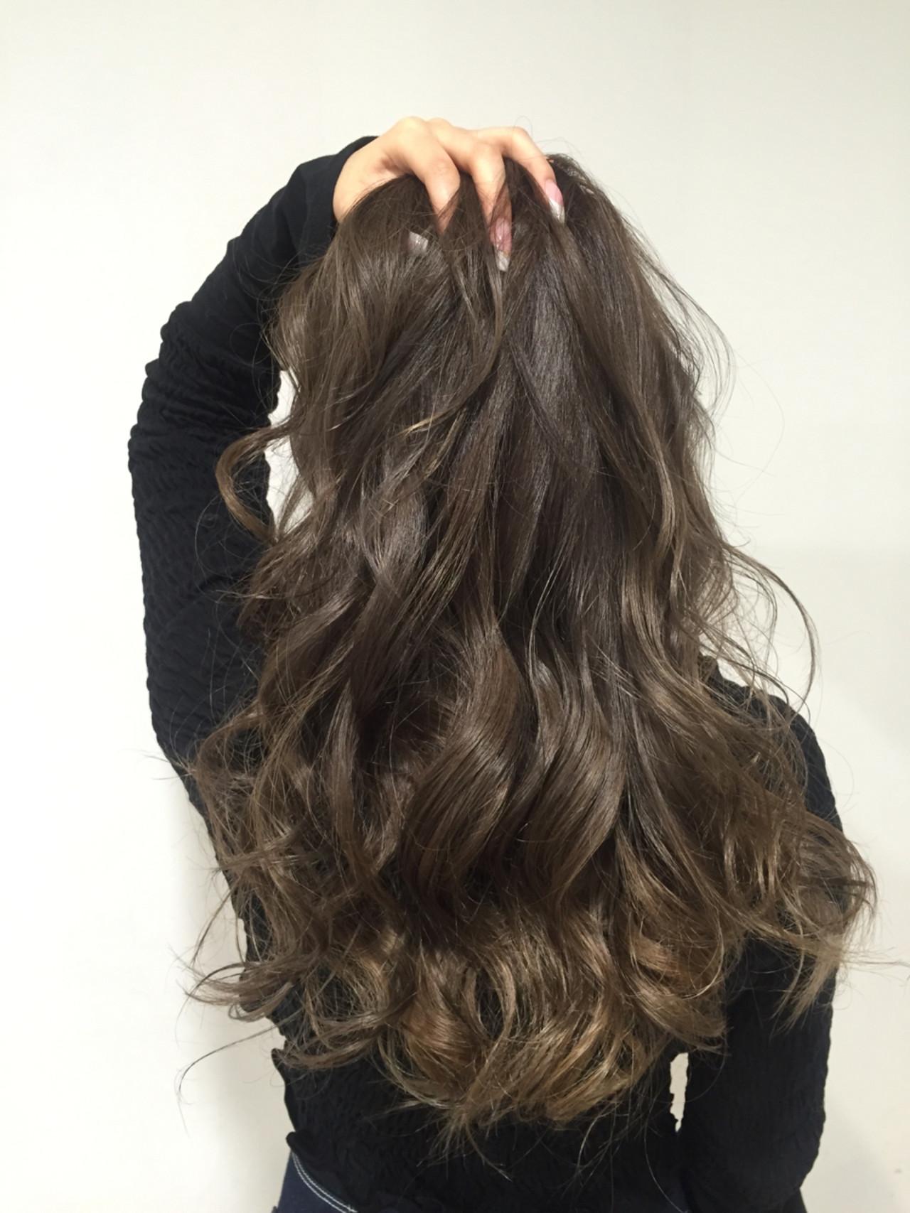 ロング ヘアアレンジ ネイビーアッシュ 3Dカラー ヘアスタイルや髪型の写真・画像   Youhei Tase / STILL hair,spa&eyelash ルトロワ