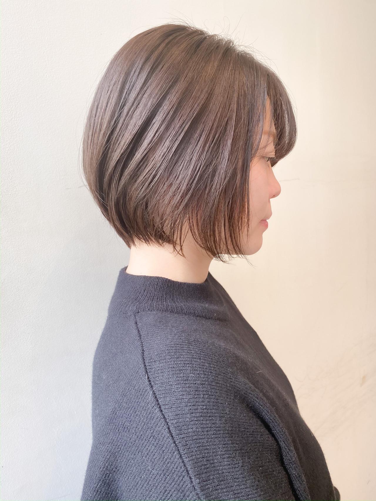 ショートボブ ショート ミルクティーベージュ ショートヘア ヘアスタイルや髪型の写真・画像 | 村西 郁人 / rue