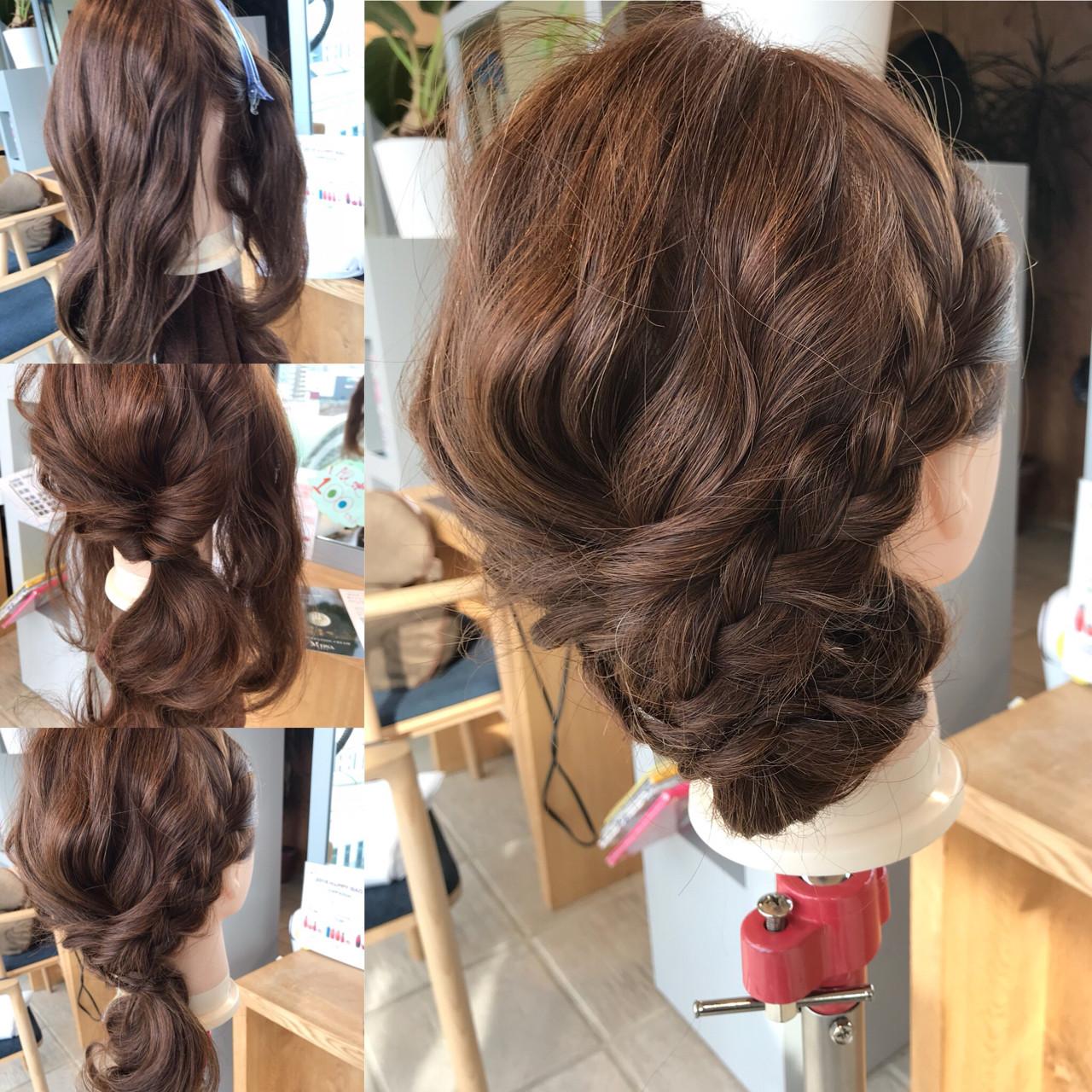 ショート 簡単ヘアアレンジ ナチュラル ロング ヘアスタイルや髪型の写真・画像