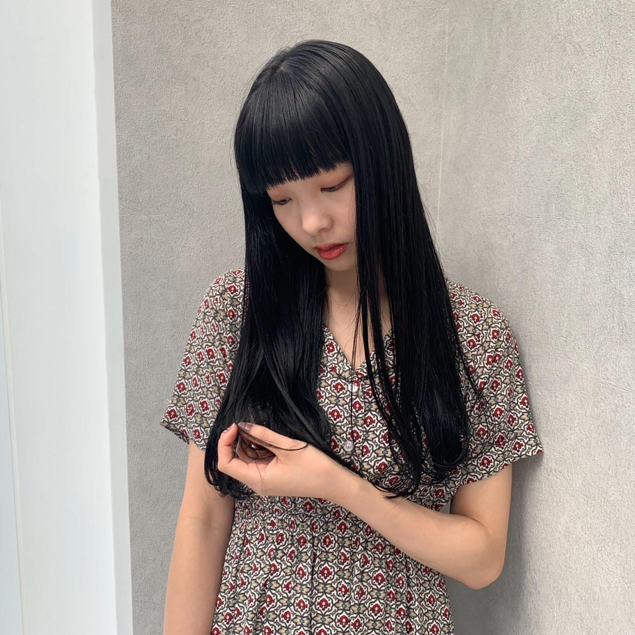 なんちゃって黒染め 黒染め 就活 コンサバ ヘアスタイルや髪型の写真・画像 | アヤ / Lano by HAIR