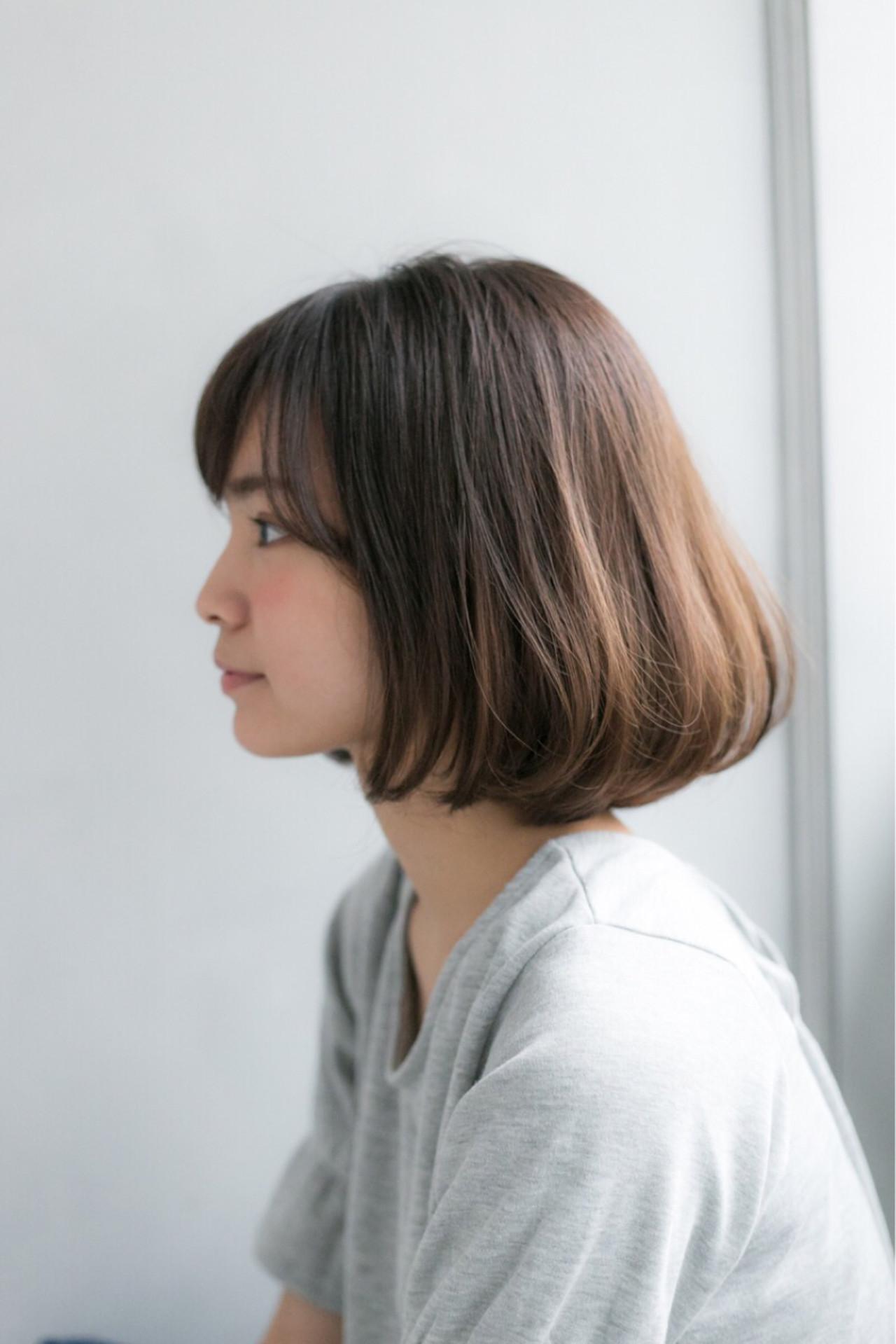 スポーツ デート ボブ ナチュラル ヘアスタイルや髪型の写真・画像   松下哲史 / Ramie omotesando