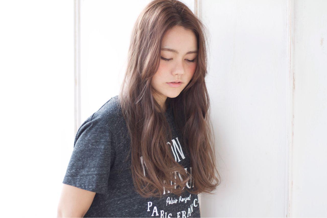 外国人風 ノームコア モード ロング ヘアスタイルや髪型の写真・画像