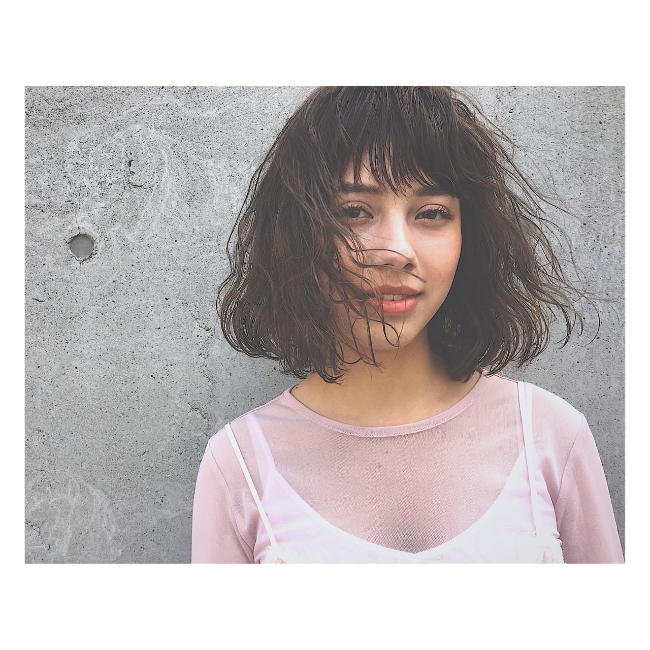 前髪あり ベージュ アッシュ パーマ ヘアスタイルや髪型の写真・画像 | 廣田 崇明 / FLOWERS