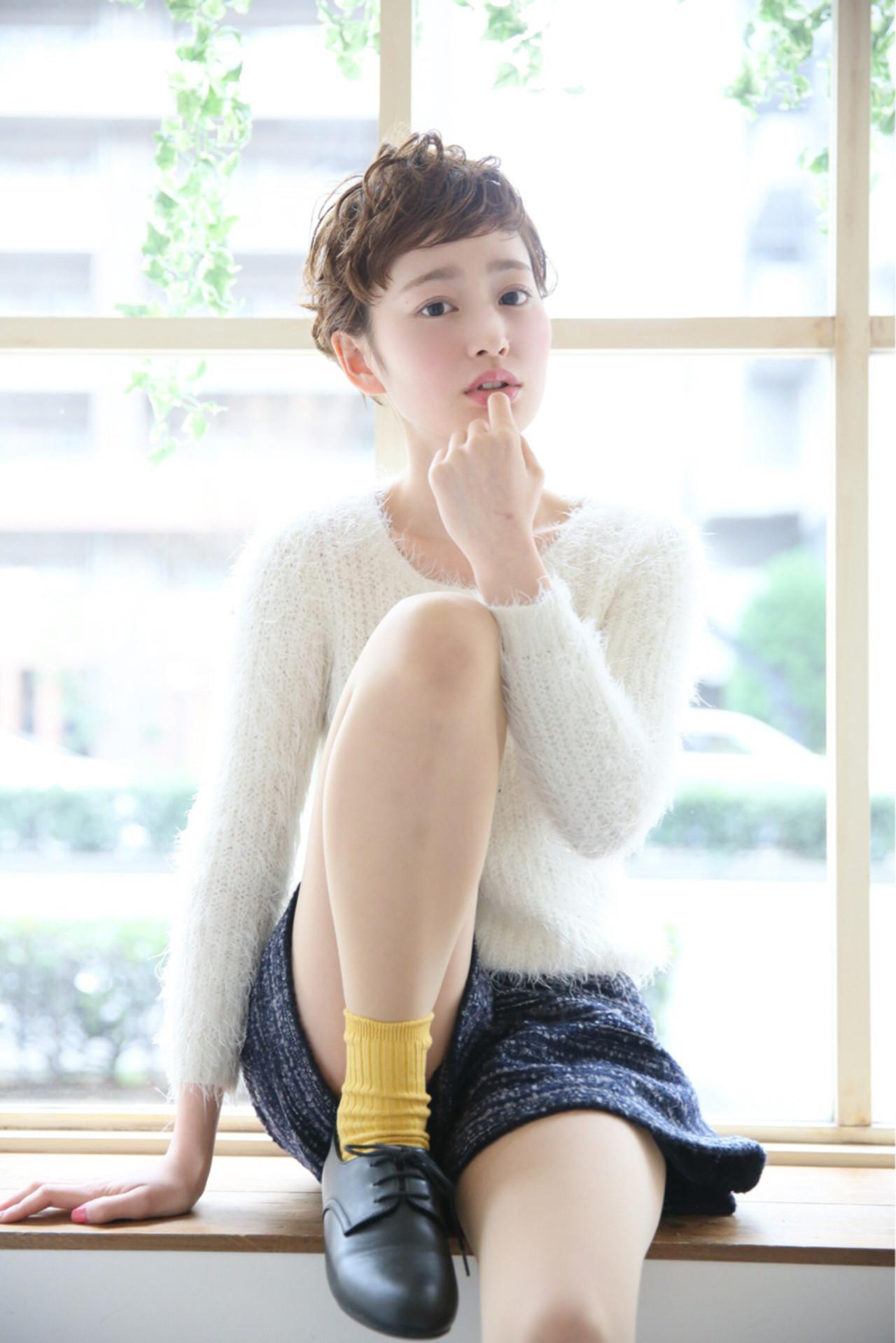 ストリート ベリーショート パーマ 大人かわいい ヘアスタイルや髪型の写真・画像 | 柾木 ひかる / Madu