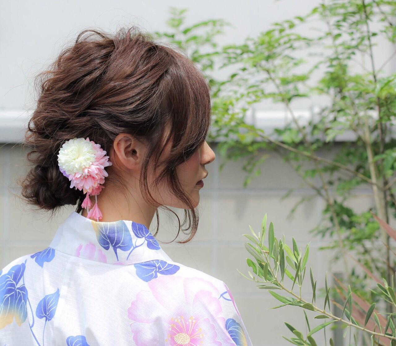 色気 デート まとめ髪 ヘアアレンジ ヘアスタイルや髪型の写真・画像