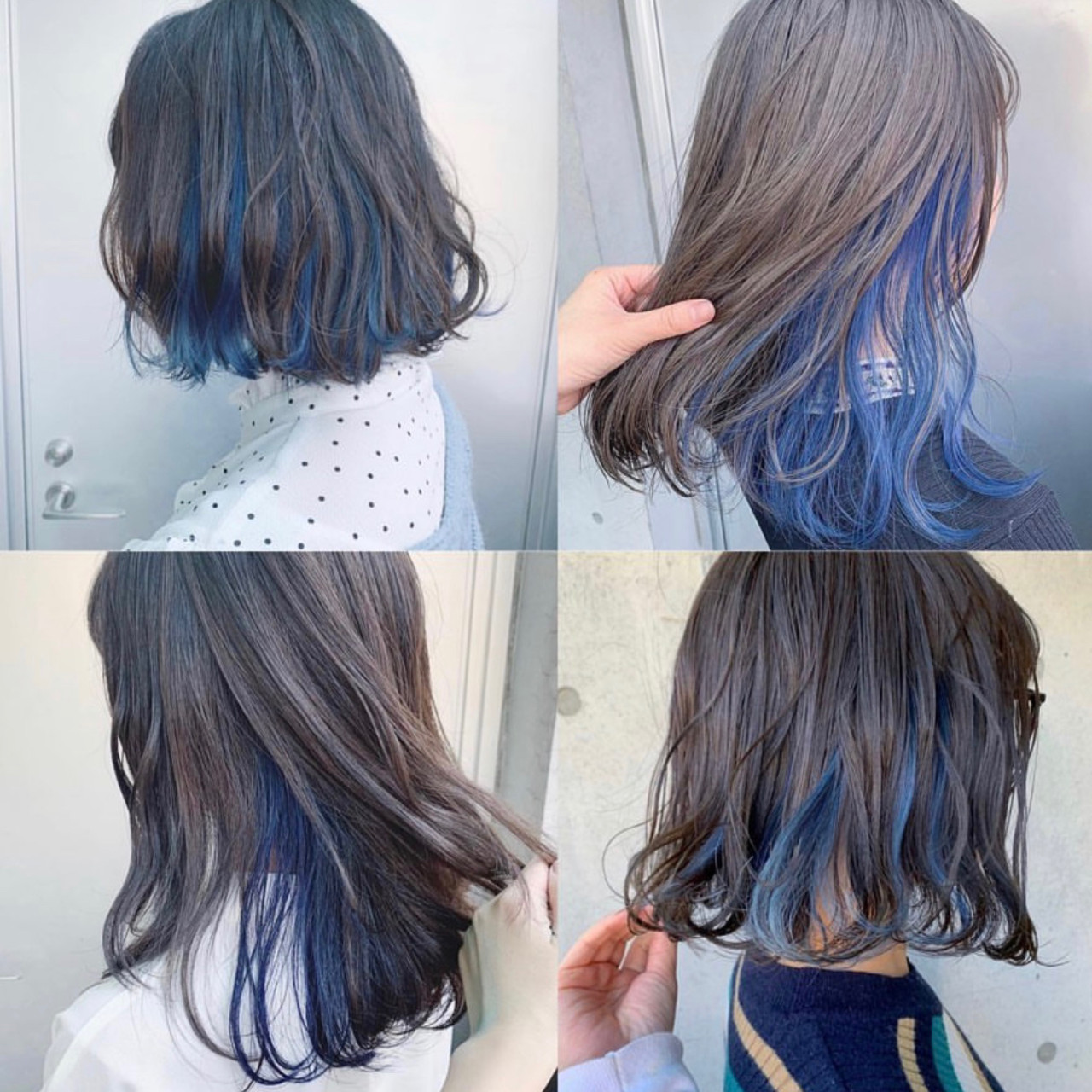 ミディアム ブルージュ インナーカラー グレージュ ヘアスタイルや髪型の写真・画像 | アヤ / Lano by HAIR