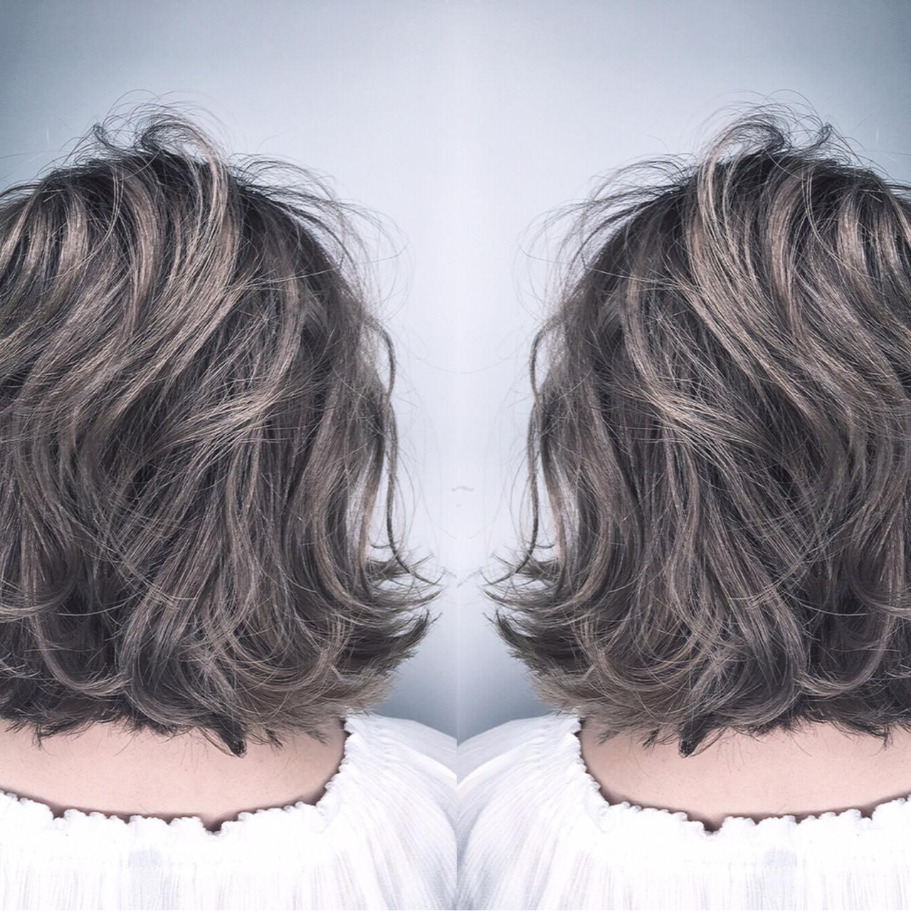 ボブ ナチュラル ウェーブ 外国人風 ヘアスタイルや髪型の写真・画像 | 筒井 隆由 / Hair salon mode
