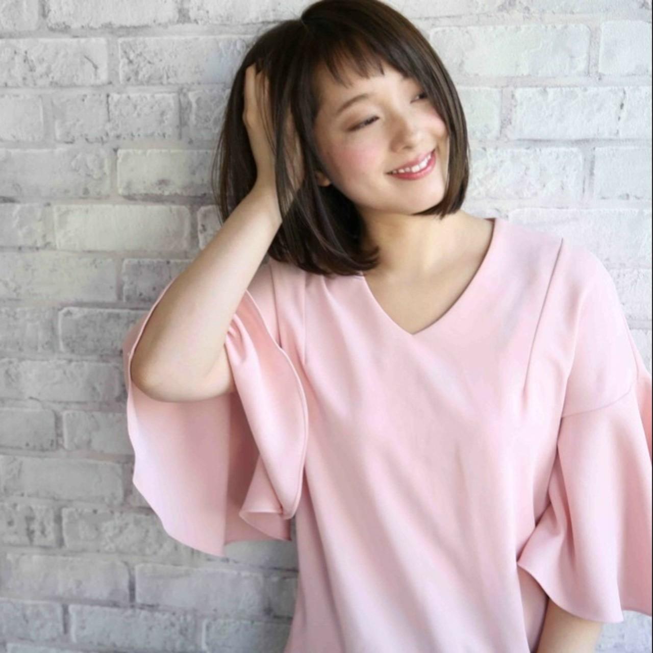 ワンカール 大人かわいい ナチュラル 愛され ヘアスタイルや髪型の写真・画像 | asuka /