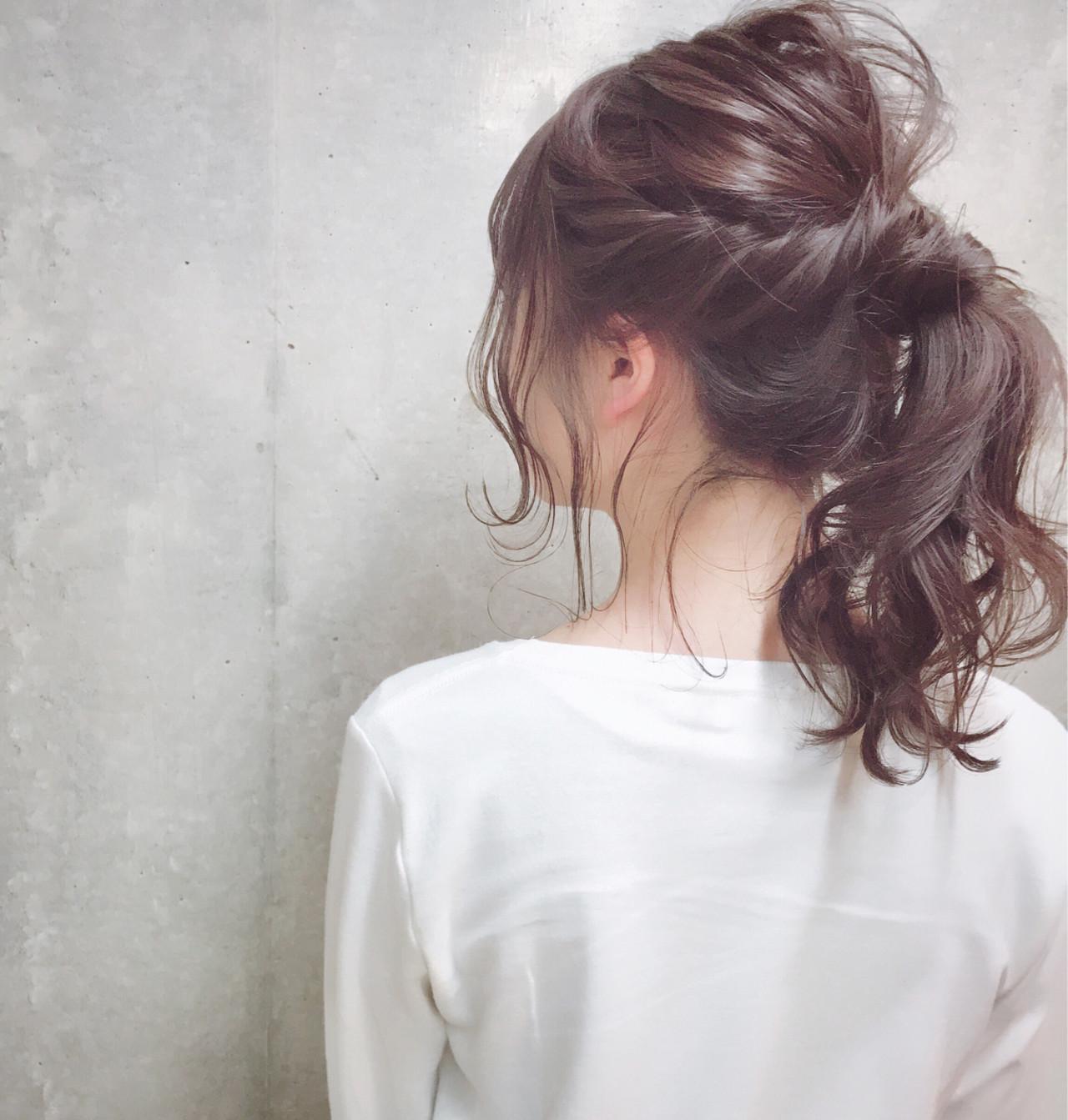 ナチュラル セミロング 冬 ヘアアレンジ ヘアスタイルや髪型の写真・画像
