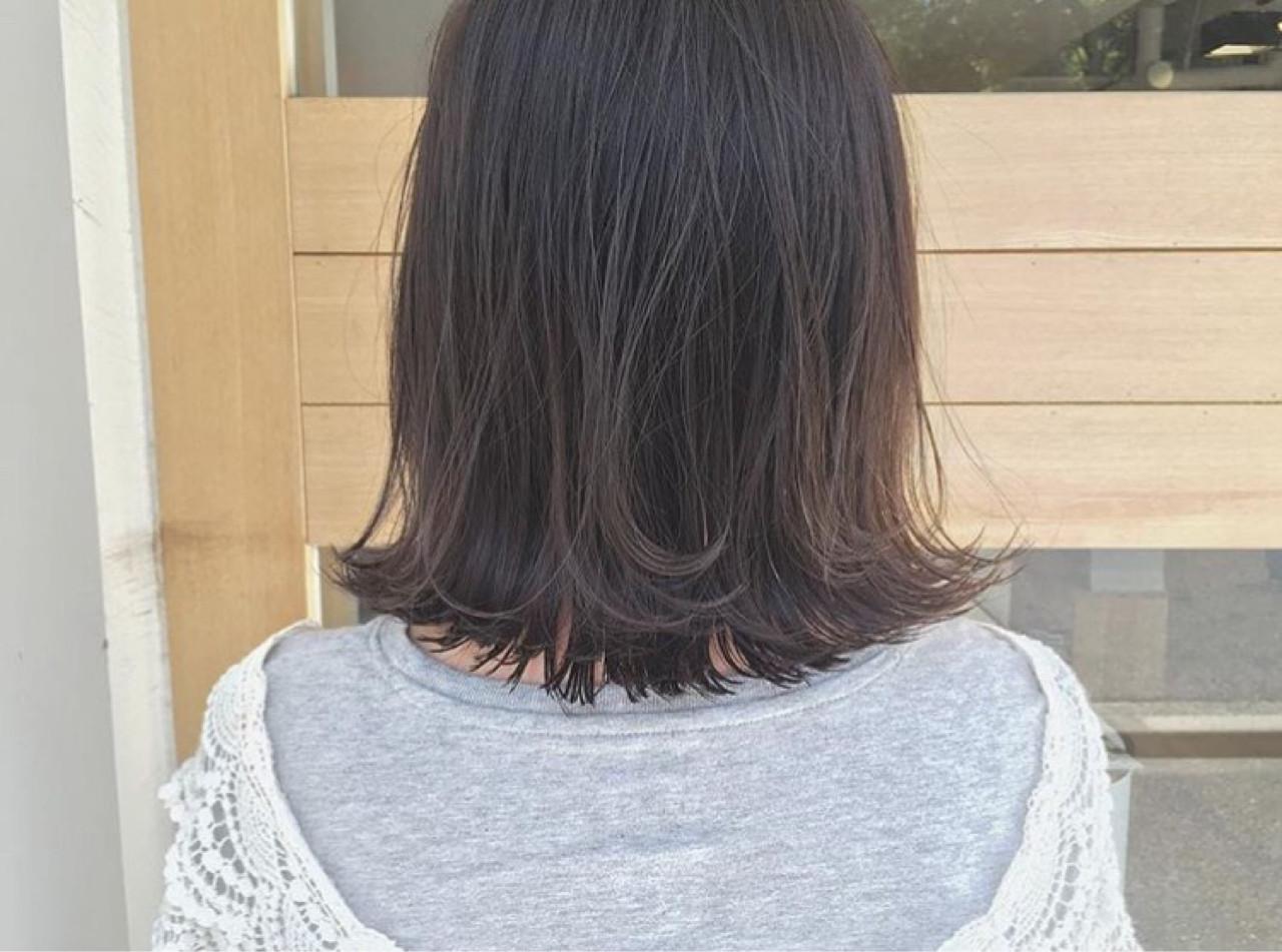 ハイライト リラックス 外ハネ ボブ ヘアスタイルや髪型の写真・画像