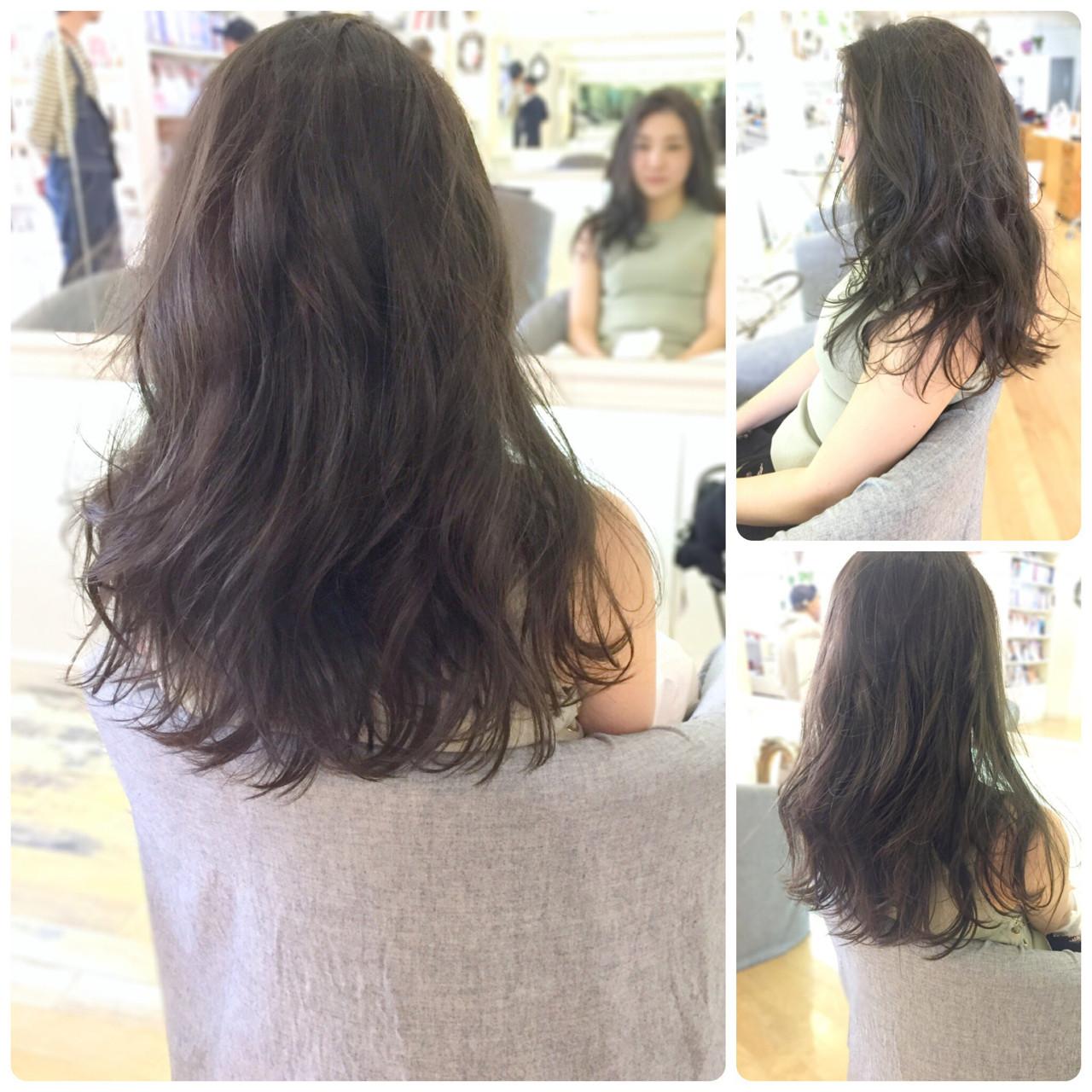 ロング イルミナカラー 透明感 ウェーブ ヘアスタイルや髪型の写真・画像 | イマムラ スナオ / LUKE
