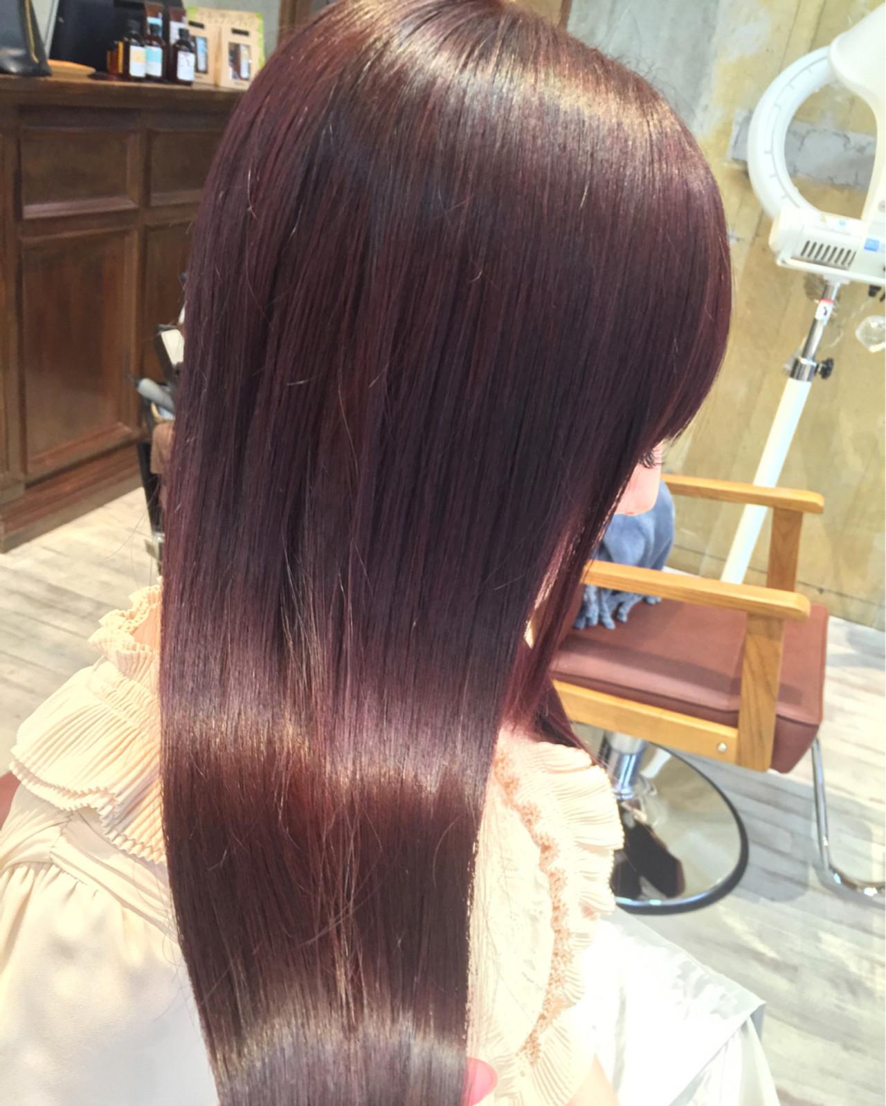 抜け感 アッシュ パープル ピンク ヘアスタイルや髪型の写真・画像