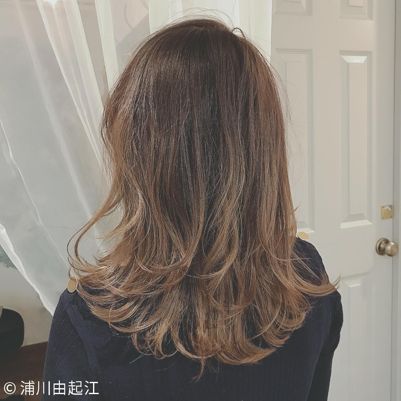 エレガント 秋冬スタイル セミロング 大人かわいい ヘアスタイルや髪型の写真・画像