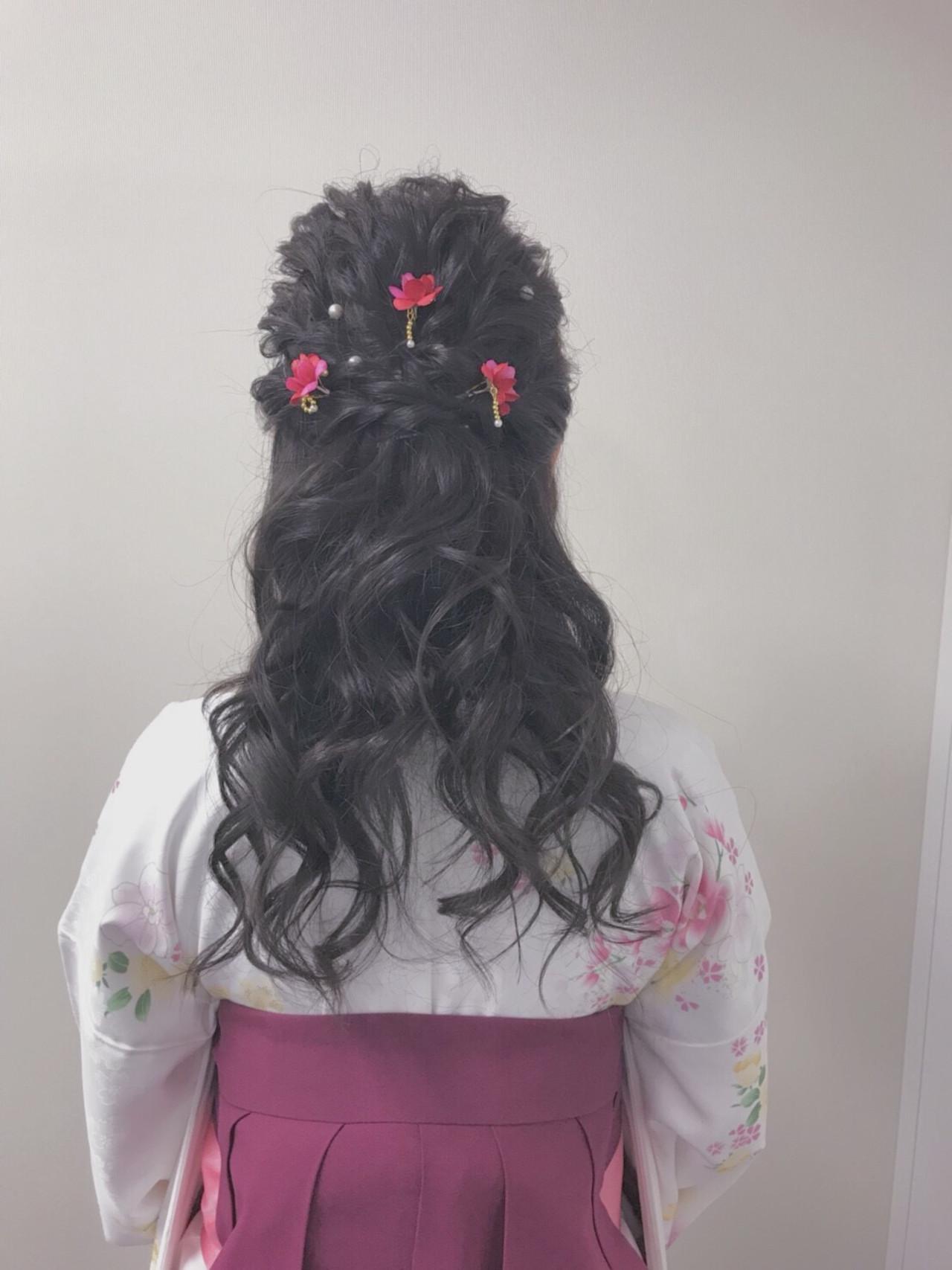 成人式ヘア ヘアアレンジ 成人式 エレガント ヘアスタイルや髪型の写真・画像   Reina /