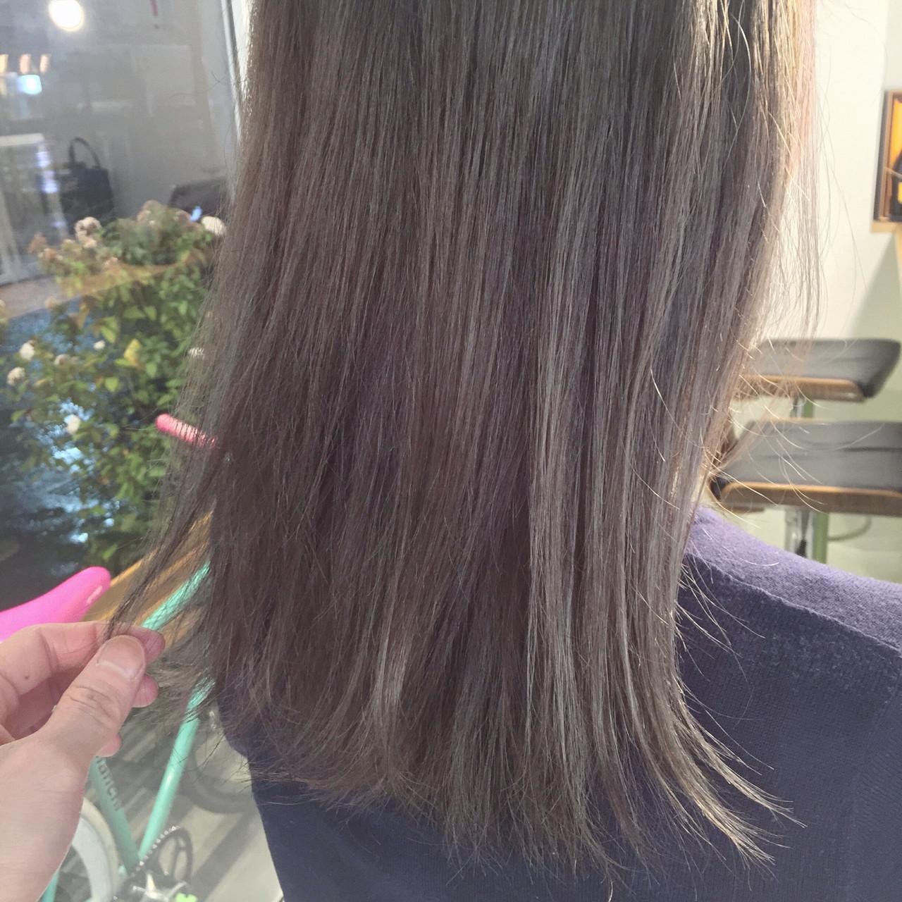 外国人風 ミディアム ストリート アッシュ ヘアスタイルや髪型の写真・画像 | 原木翔太 / lufun hair design  ルファン