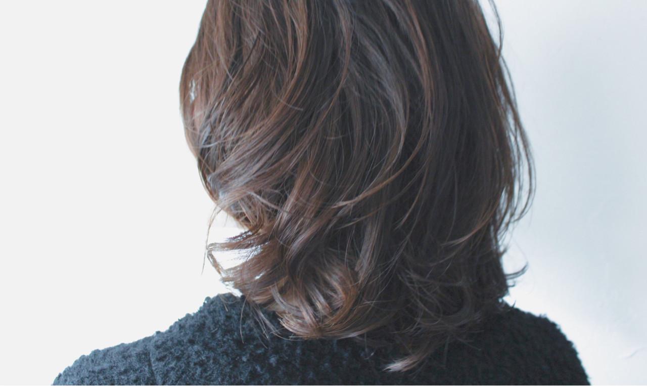 セミロング 簡単 パーマ ナチュラル ヘアスタイルや髪型の写真・画像 | creap / creap