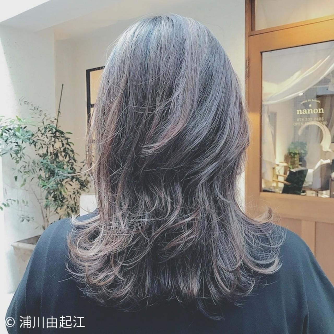 エレガント ハイライト 大人かわいい グラデーションカラー ヘアスタイルや髪型の写真・画像