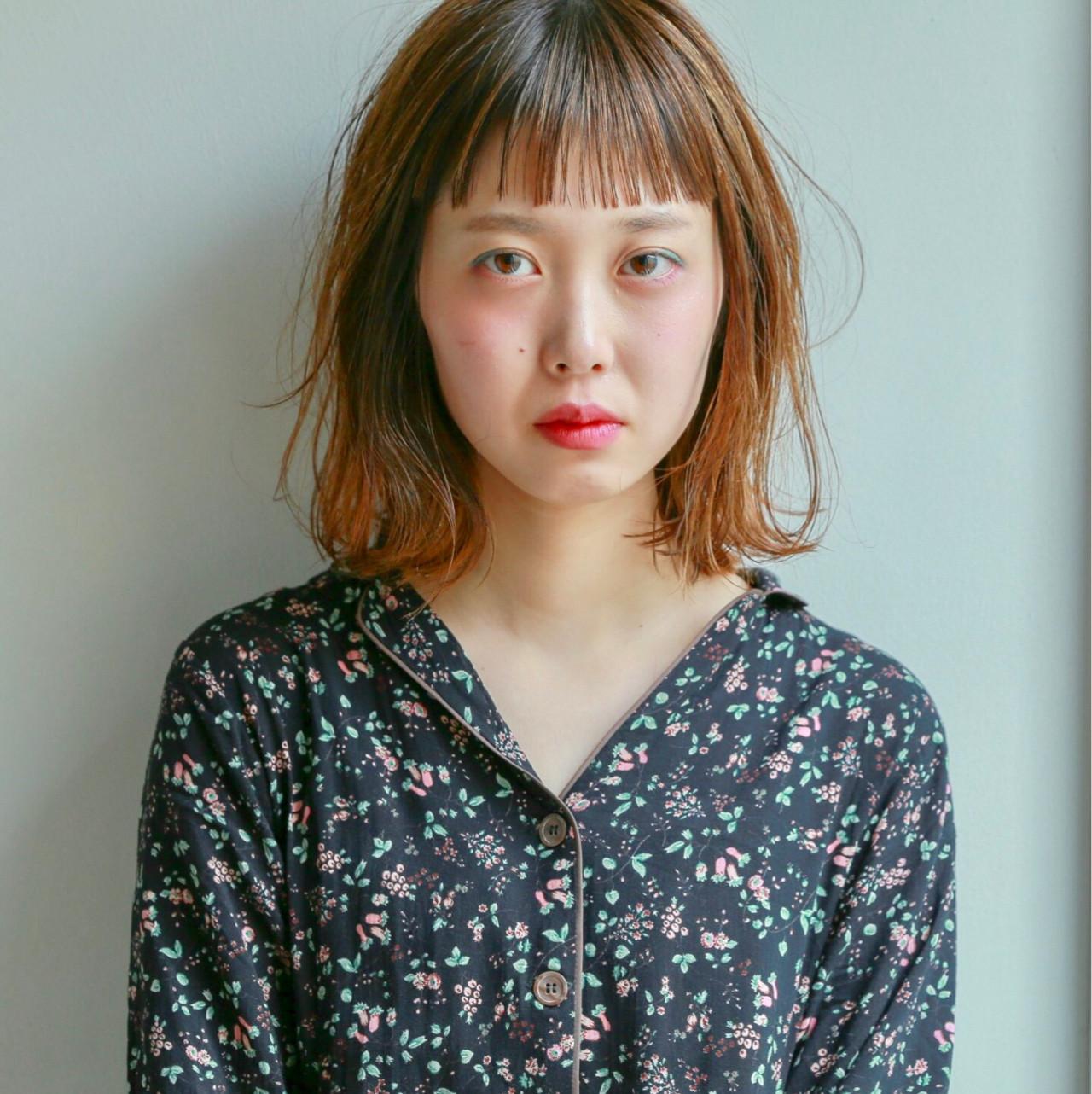 ミルクティー ナチュラル 前髪あり ミディアム ヘアスタイルや髪型の写真・画像 | 藤山将太 / ROSTAR