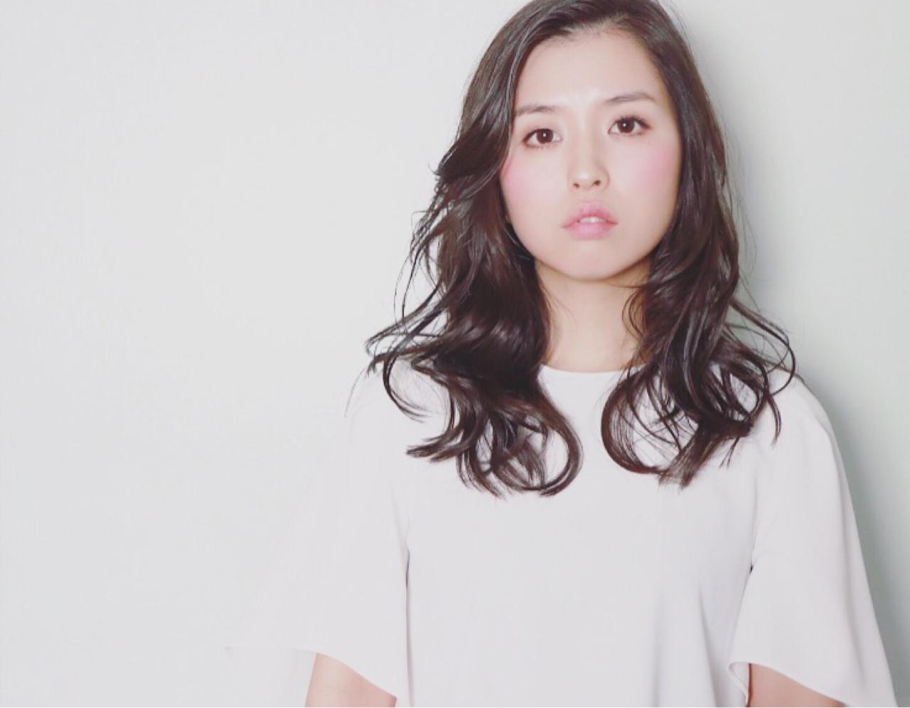 パーマ こなれ感 ゆるふわ 小顔 ヘアスタイルや髪型の写真・画像   ken / sora