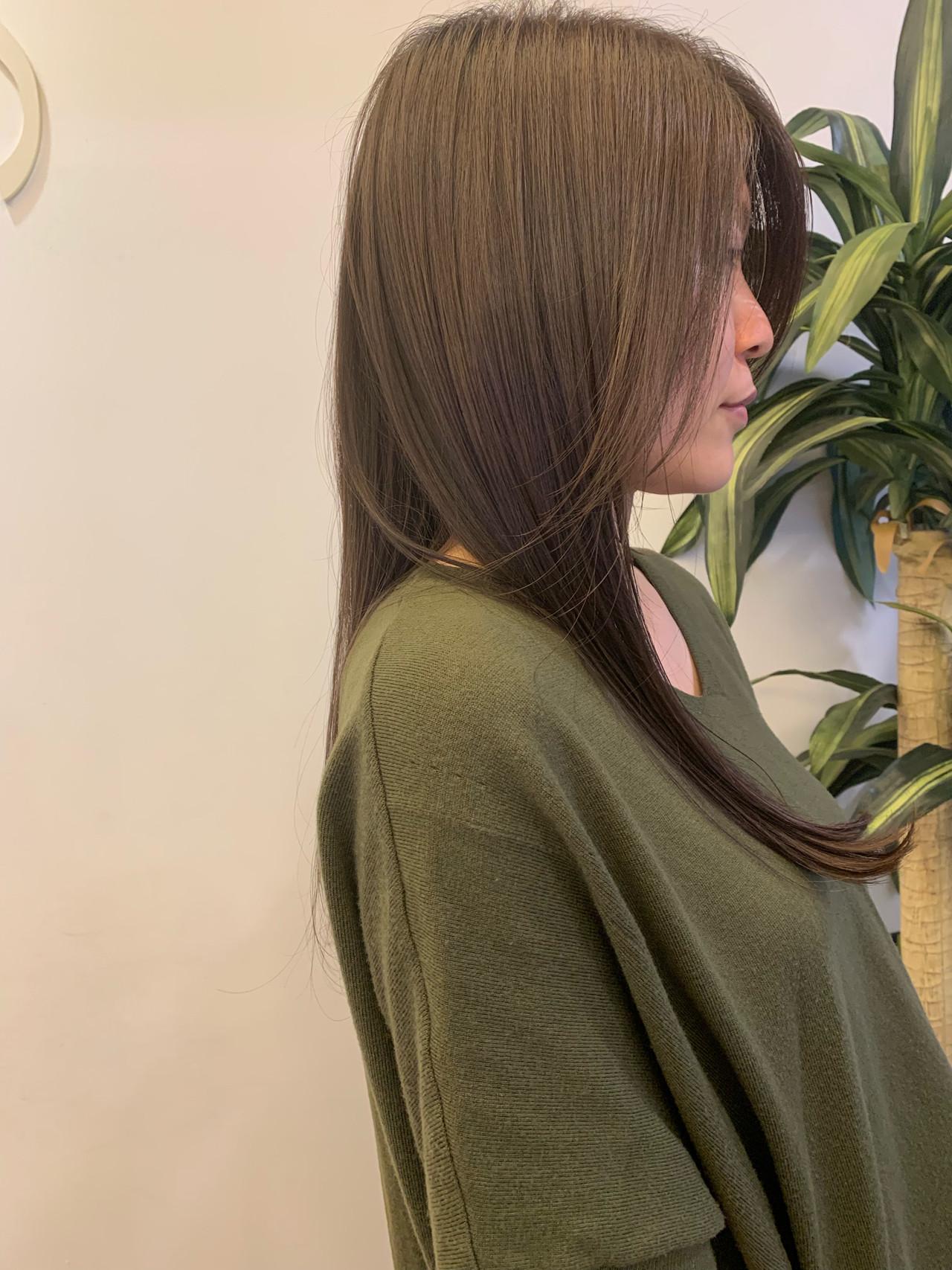 ヘアカラー デート ナチュラル 髪質改善 ヘアスタイルや髪型の写真・画像